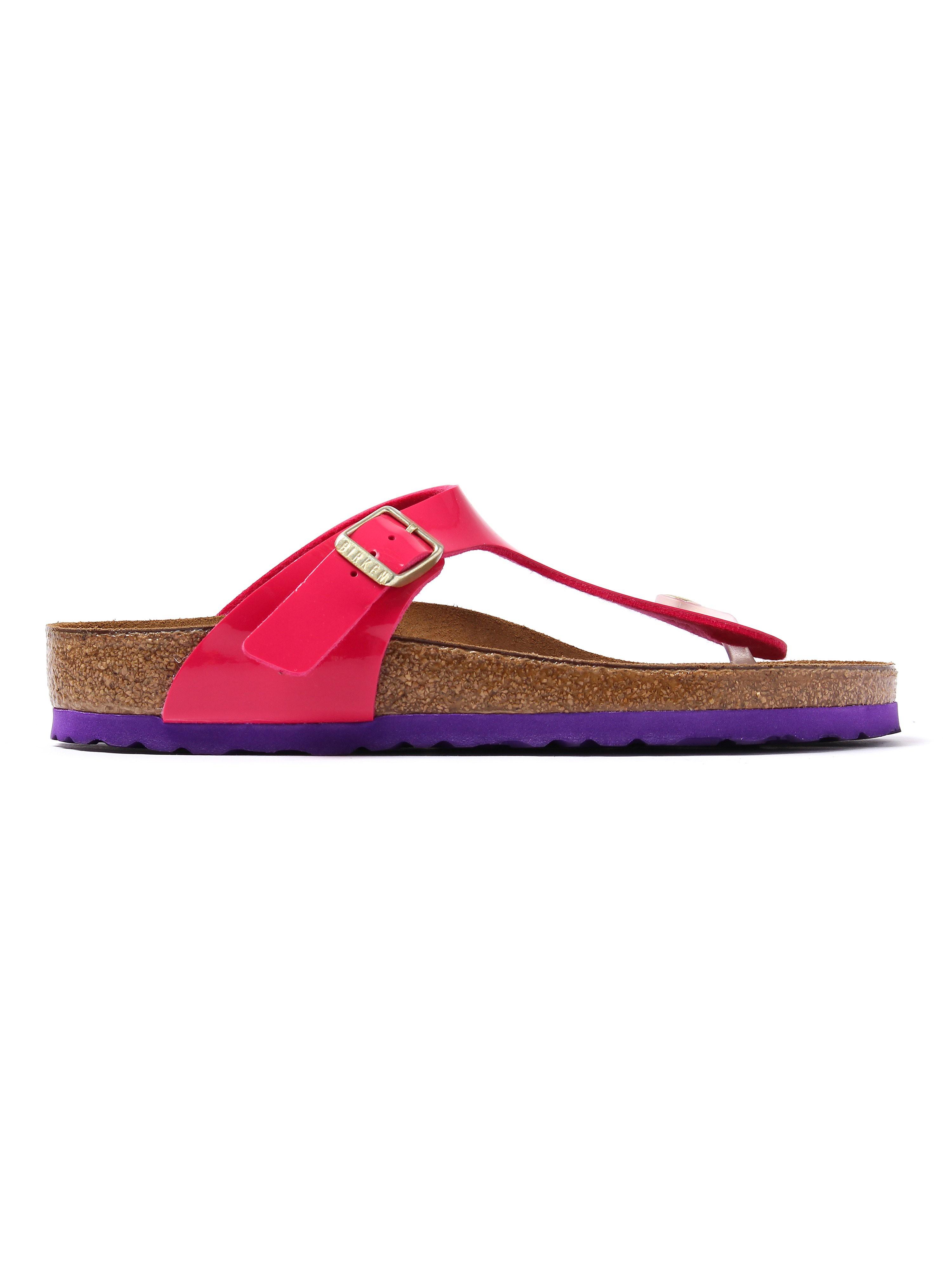 Birkenstock Women's Gizeh Regular Fit Sandals - Pink Patent