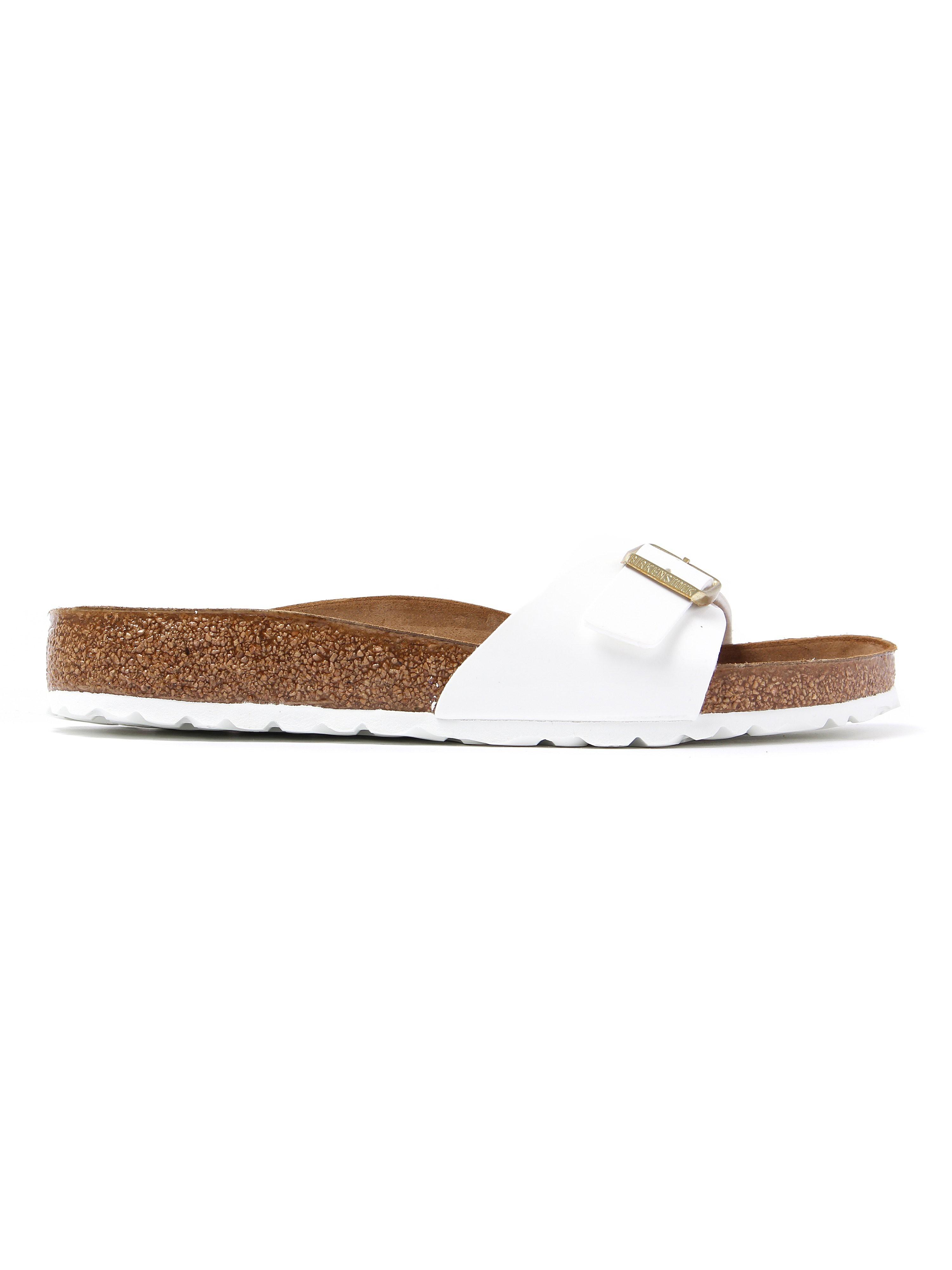 Birkenstock Women's Madrid Regular Fit Sandals - White Patent