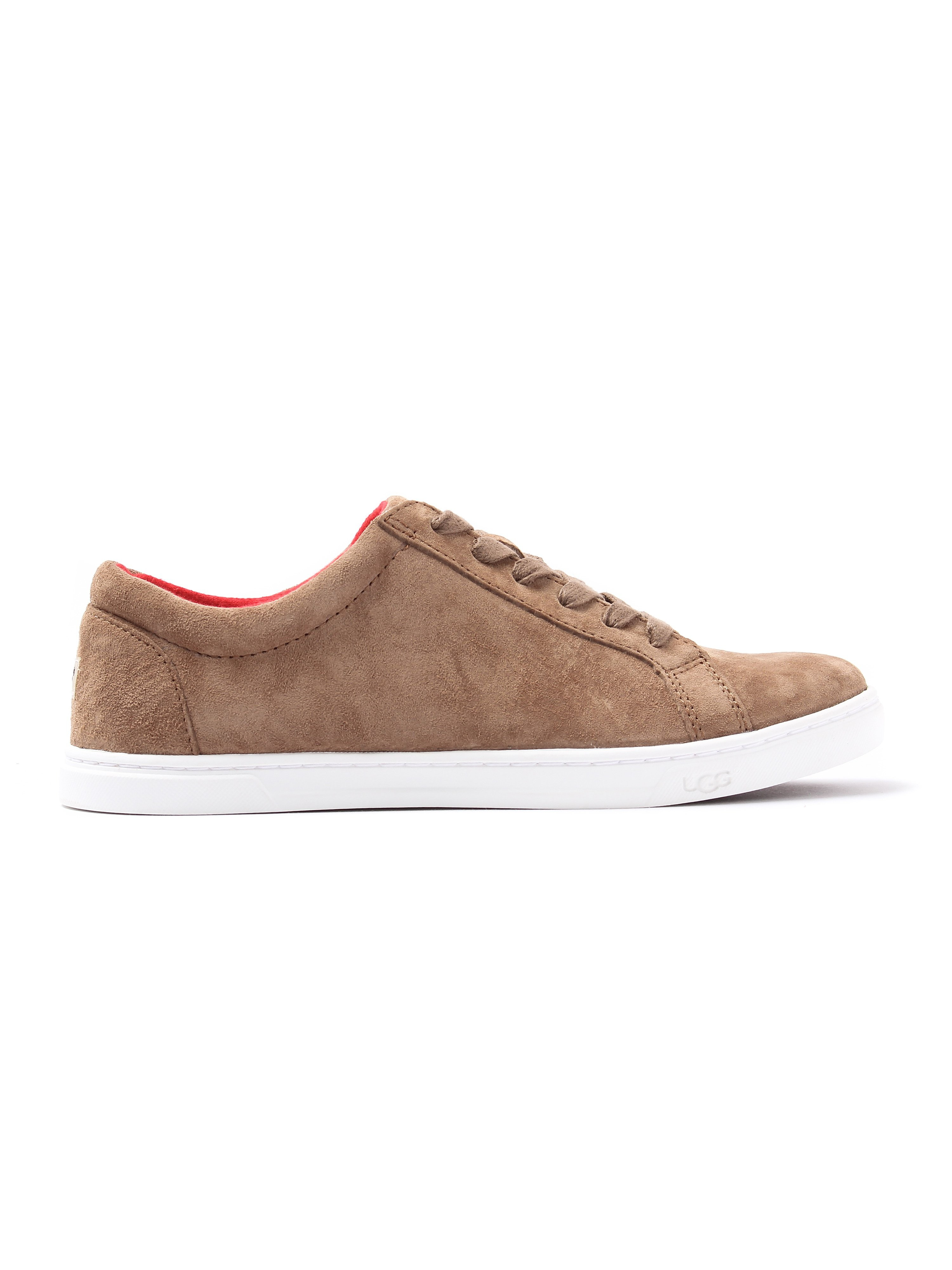 Ugg Women's Karine Suede Low-Rise Trainers - Chestnut