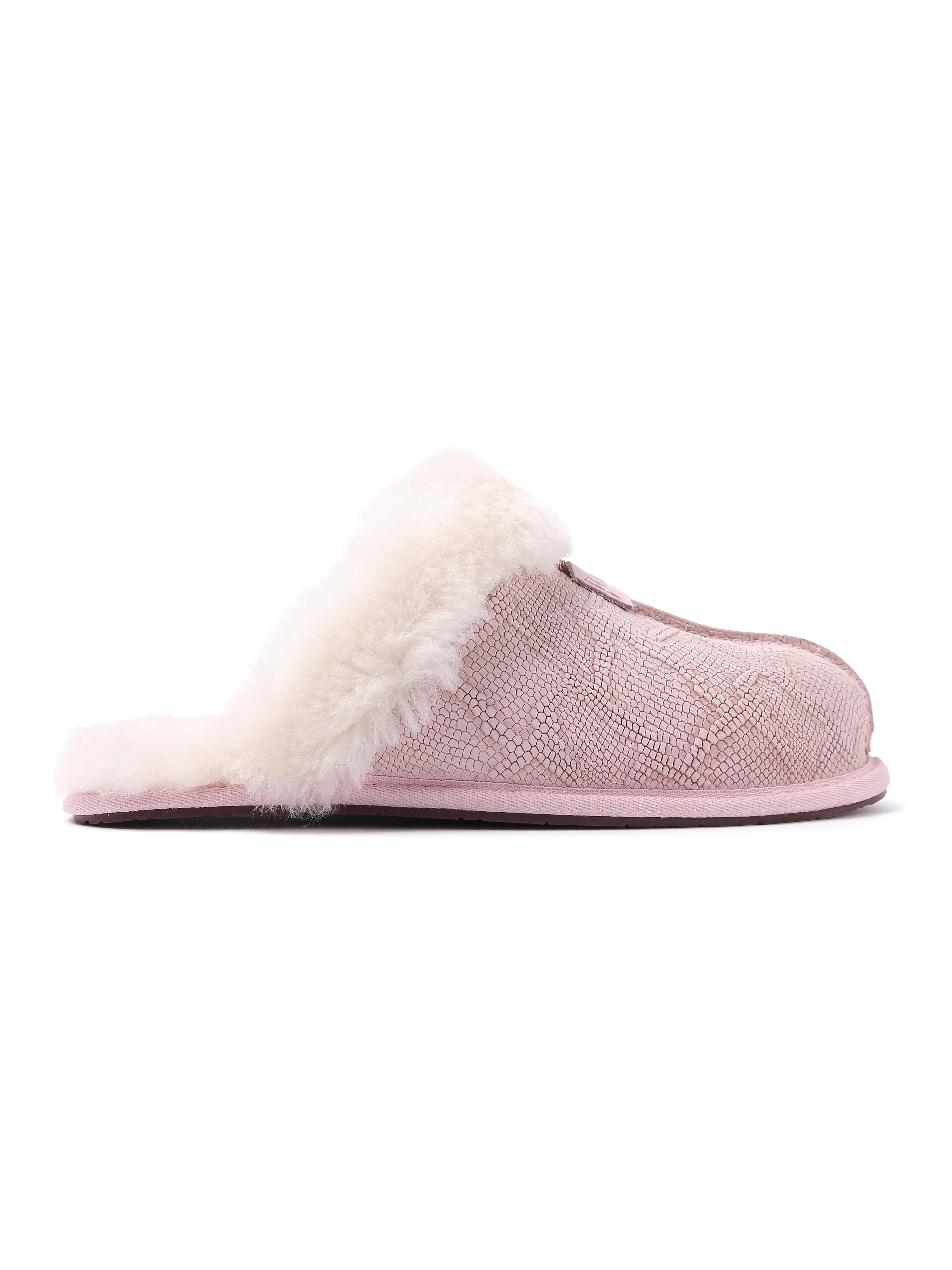 Ugg Women's Scuffette II Snake Sheepskin Slippers - Quartz