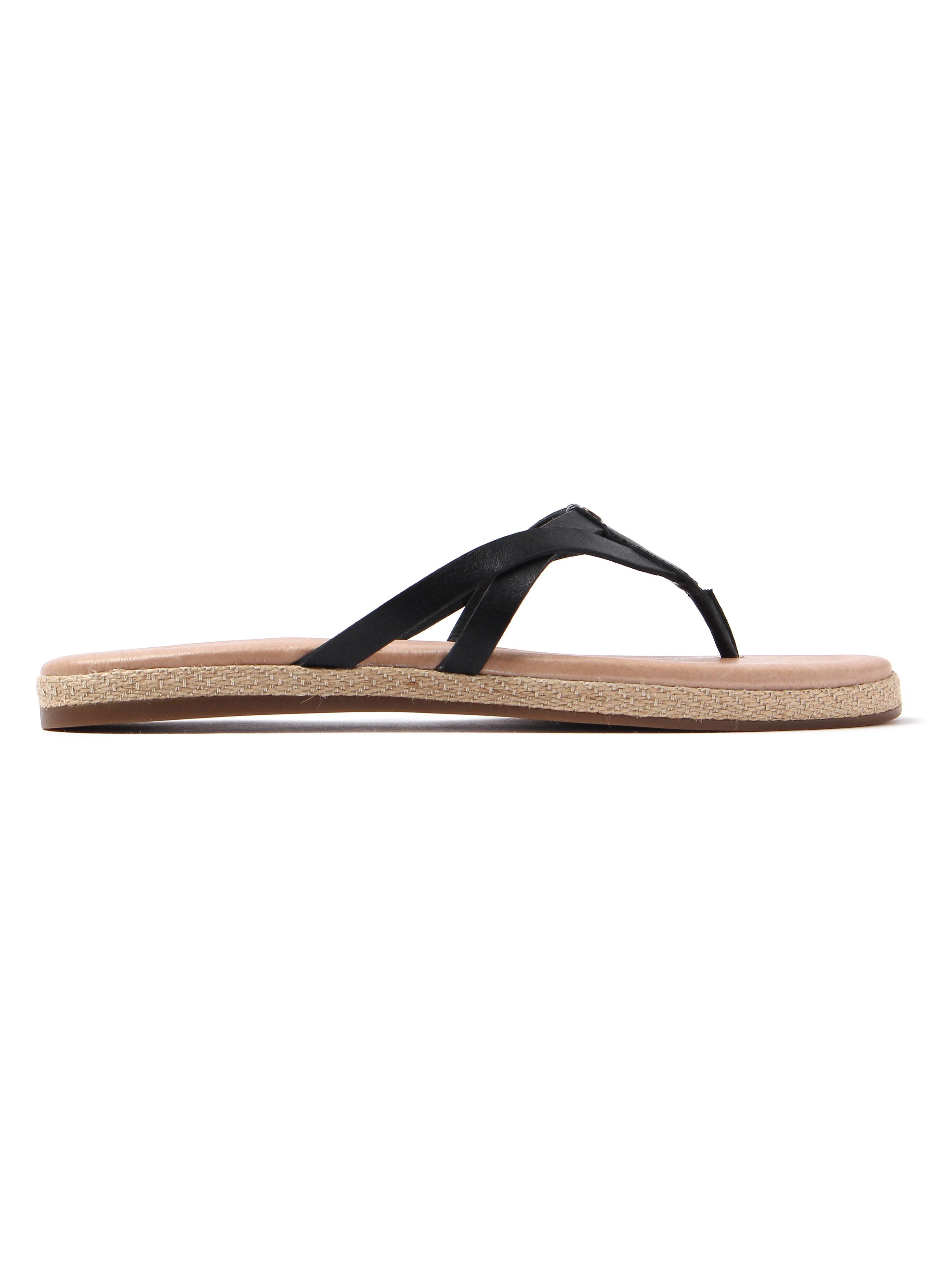 Ugg Women's Annice Leather Flip Flops - Black