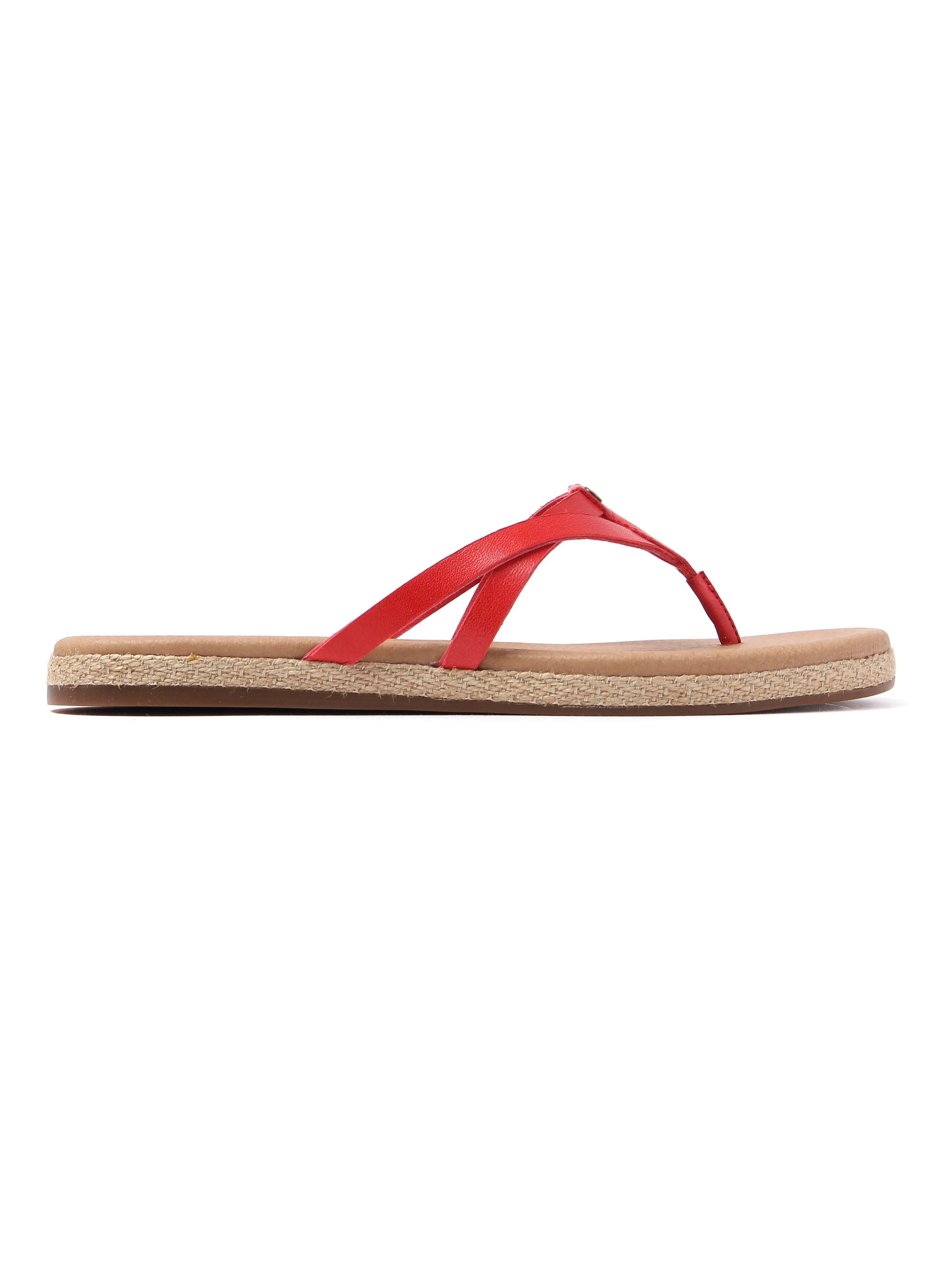 Ugg Women's Annice Leather Flip Flops - Tango