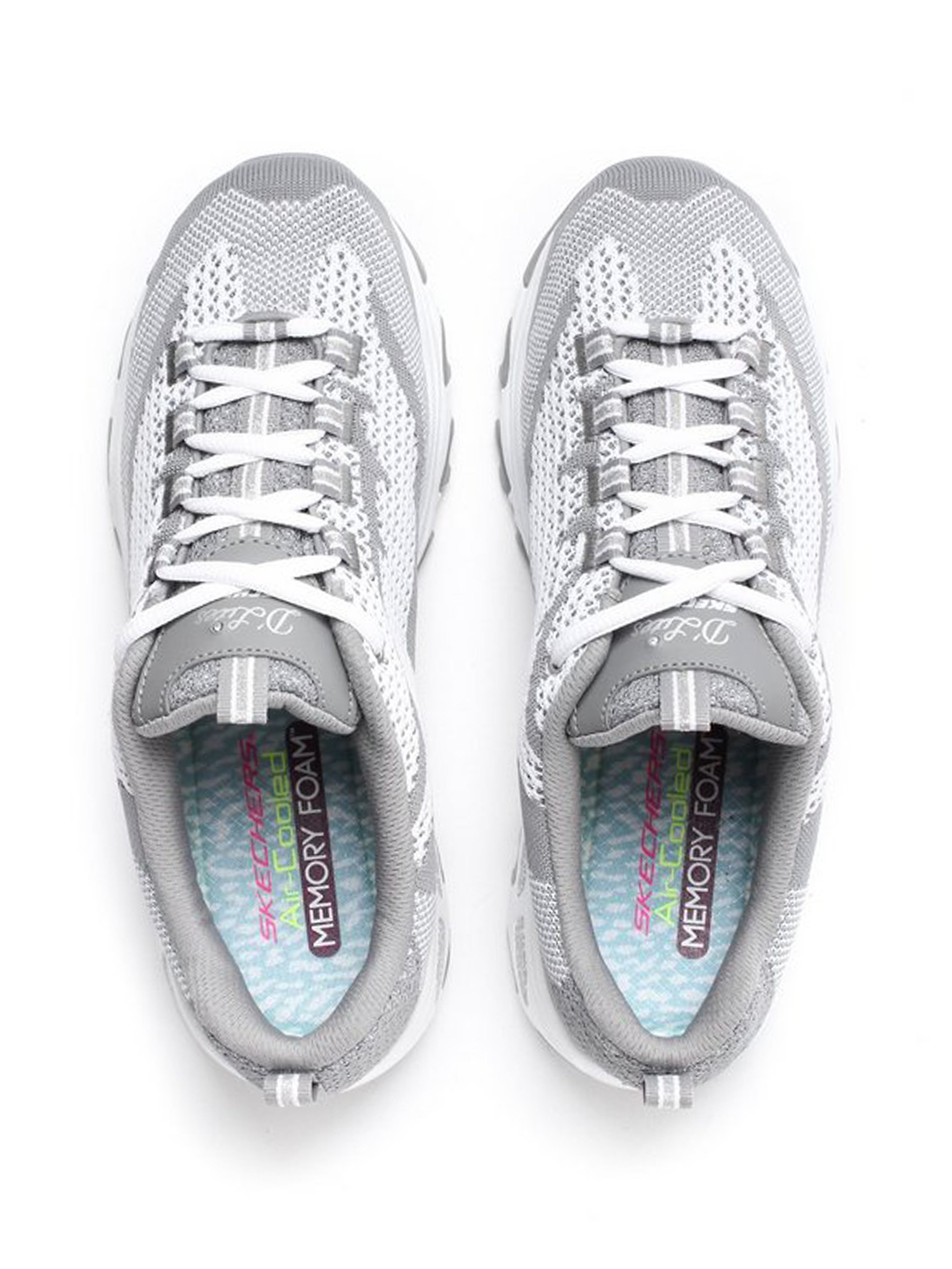 Skechers Skechers Women's D'Lites Reinvention Trainers - Grey & White