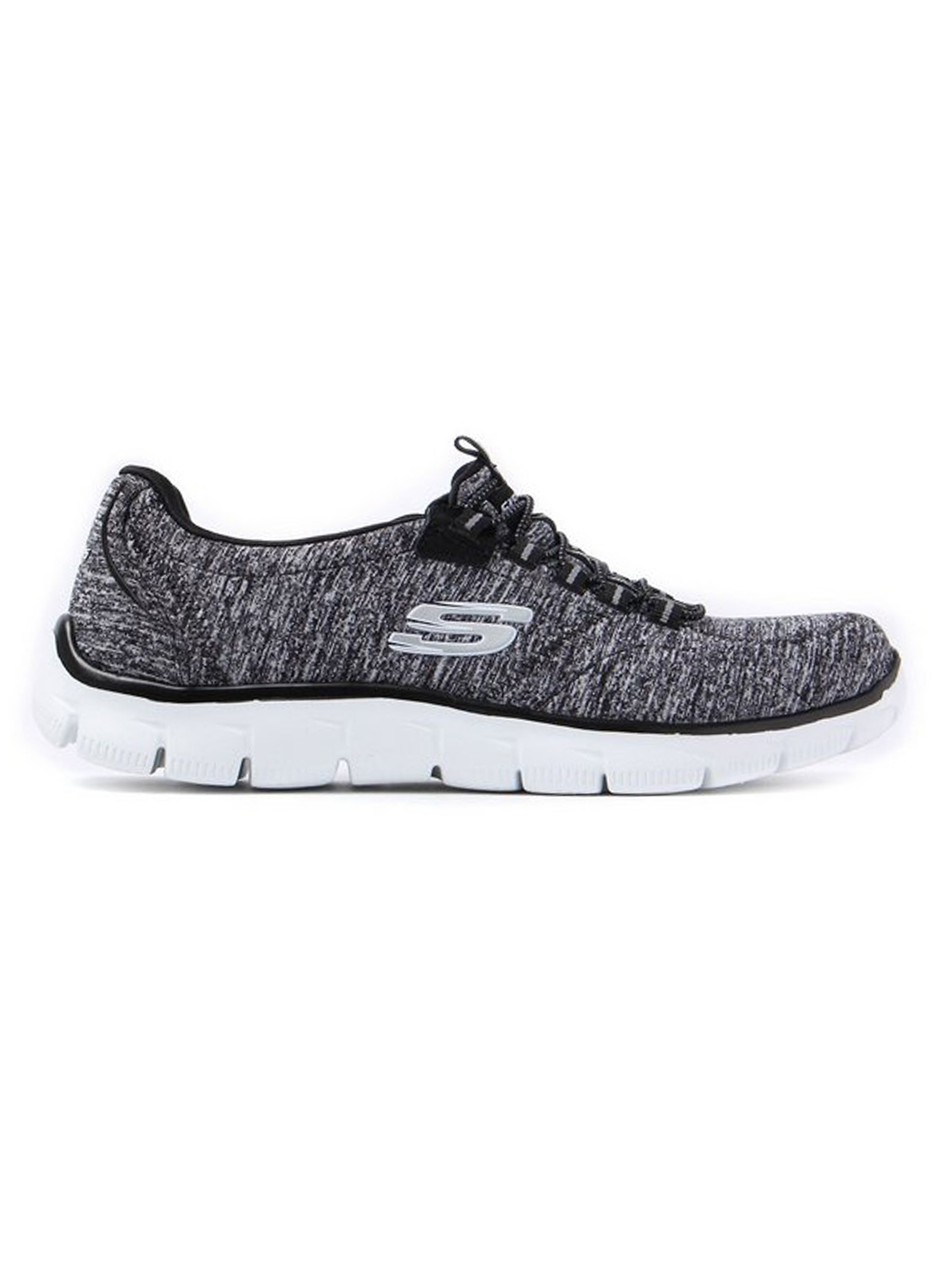 Skechers Women's Empire Heart to Heart Slip-On Trainers - Black & White
