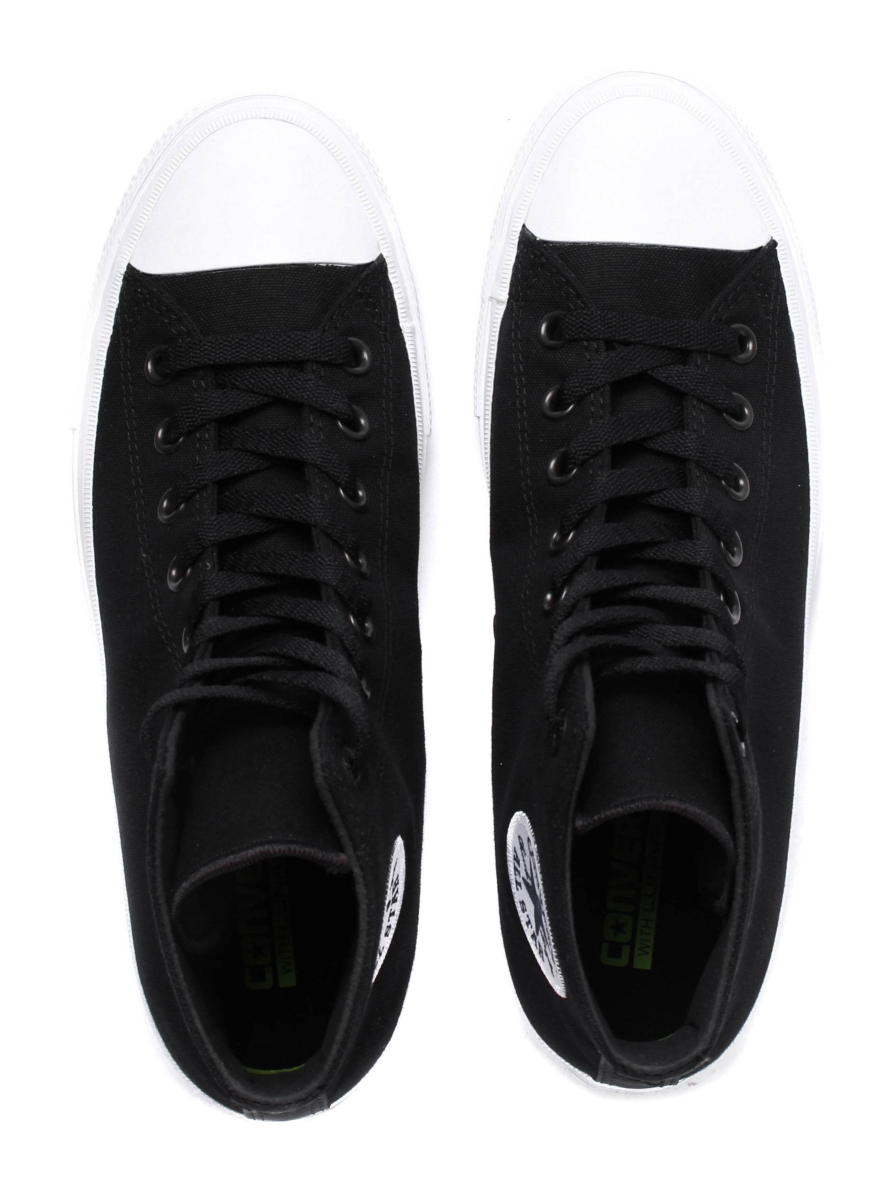 Converse Men's Chuck Taylor II High Top Canvas Trainers - Black & White
