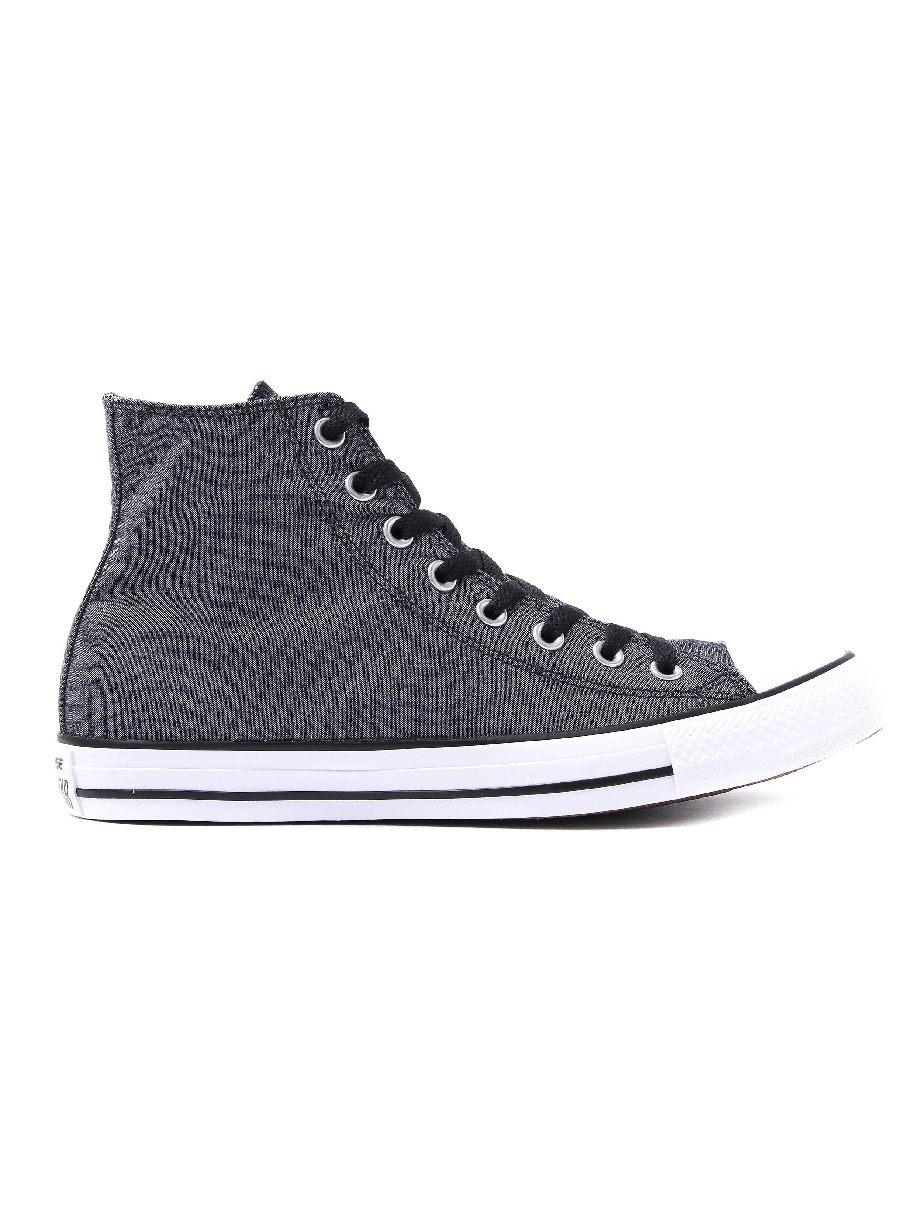 Converse Men's Chuck Taylor All Star HI Trainers - Black Chambray