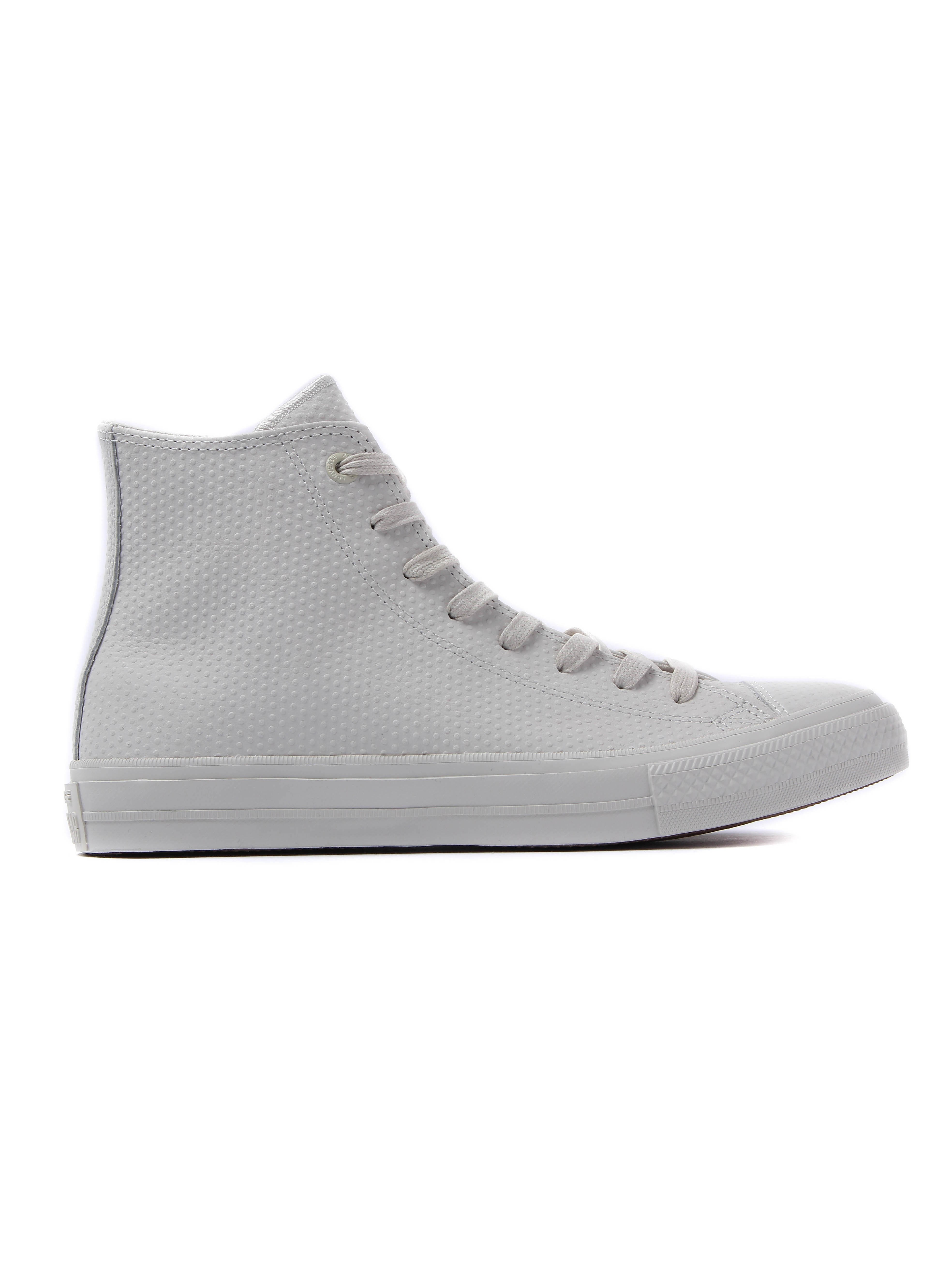 Converse Men's Chuck Taylor All Star II High Top Leather Trainers - Buff White