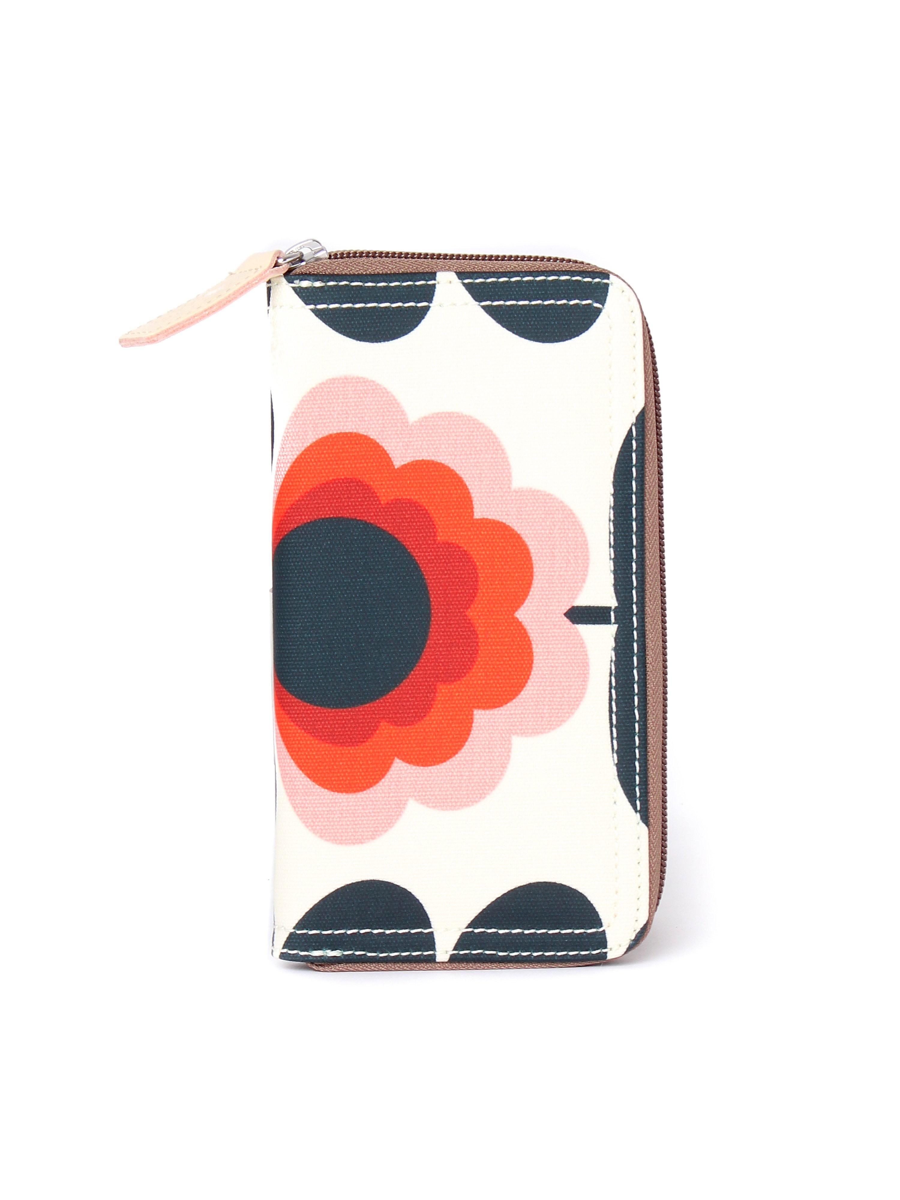 Orla Kiely Women's Summer Flower Stem Big Zip Wallet - Sunset