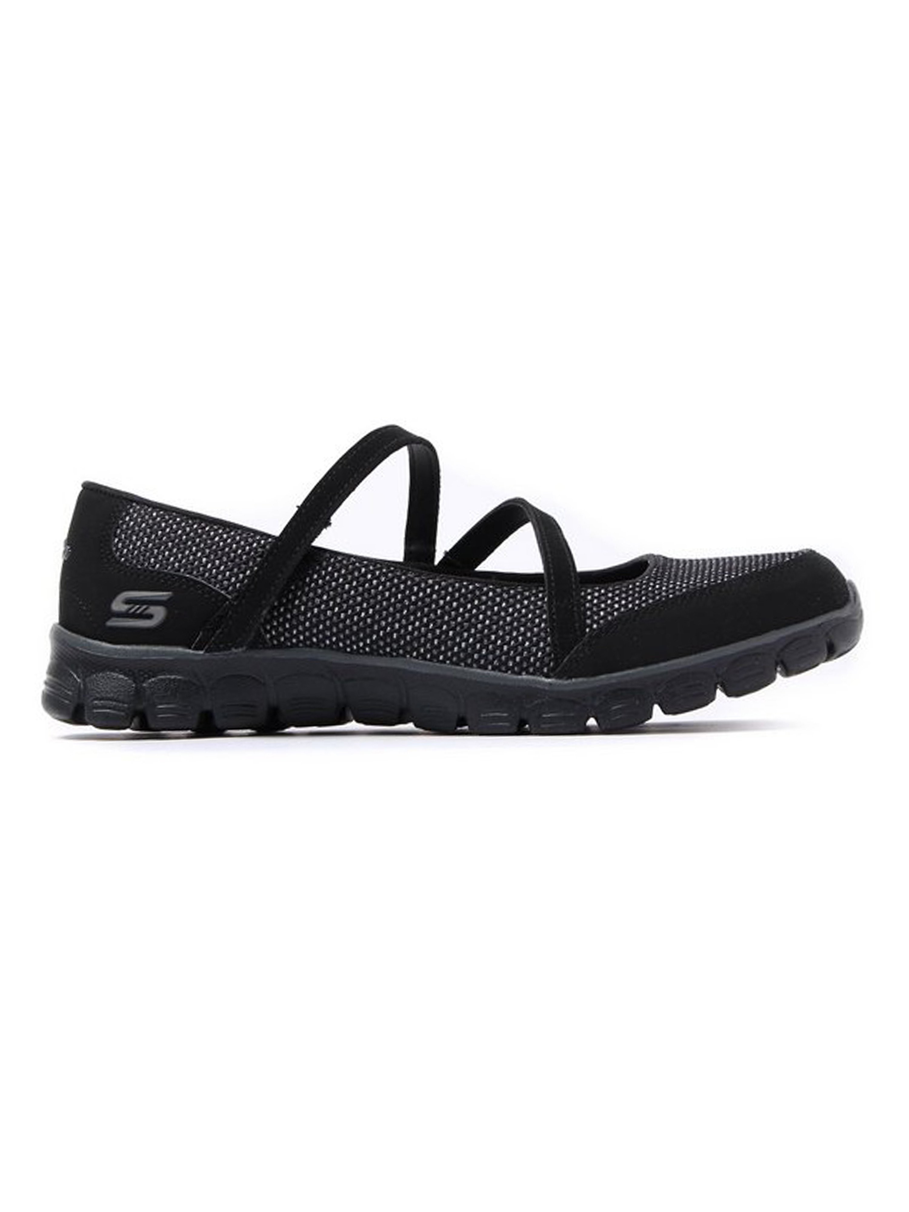 Skechers Women's EZ Flex 3.0 Stop Over Cordura Trainers - Black
