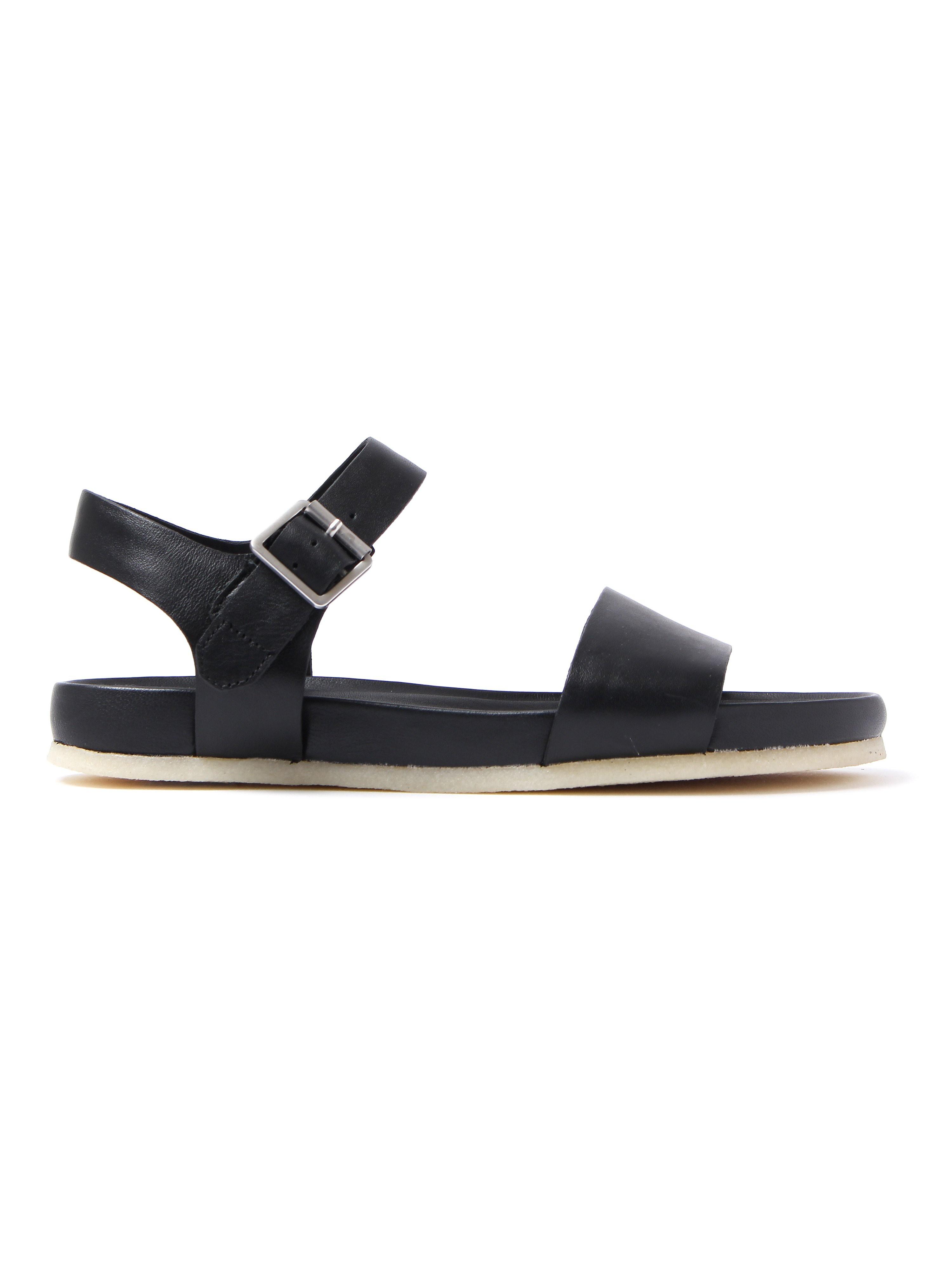 Clarks Originals Women's Dusty Soul Leather Casual Sandals - Black