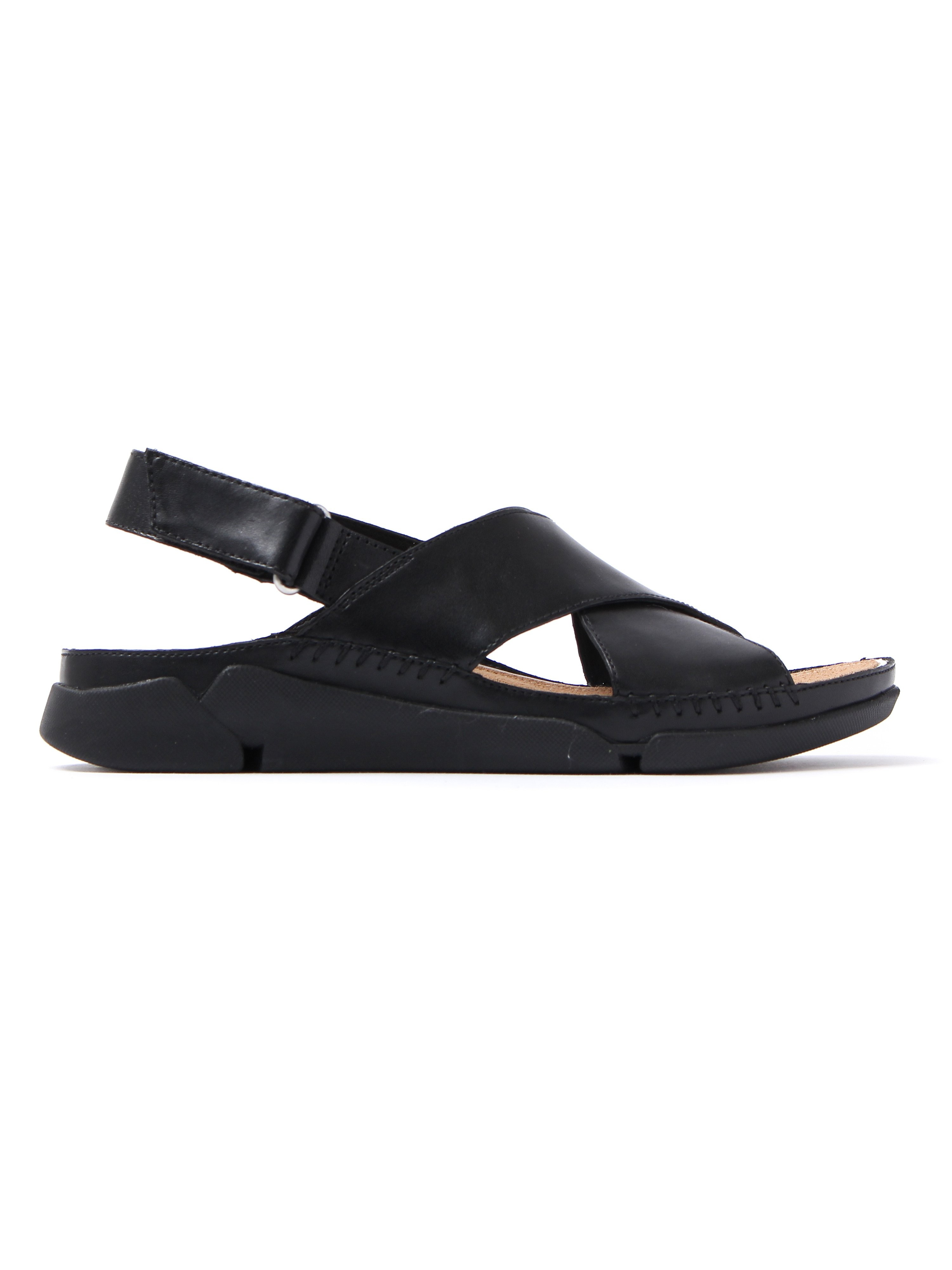 Clarks Women's Tri Alexia Leather Casual Sandals - Black