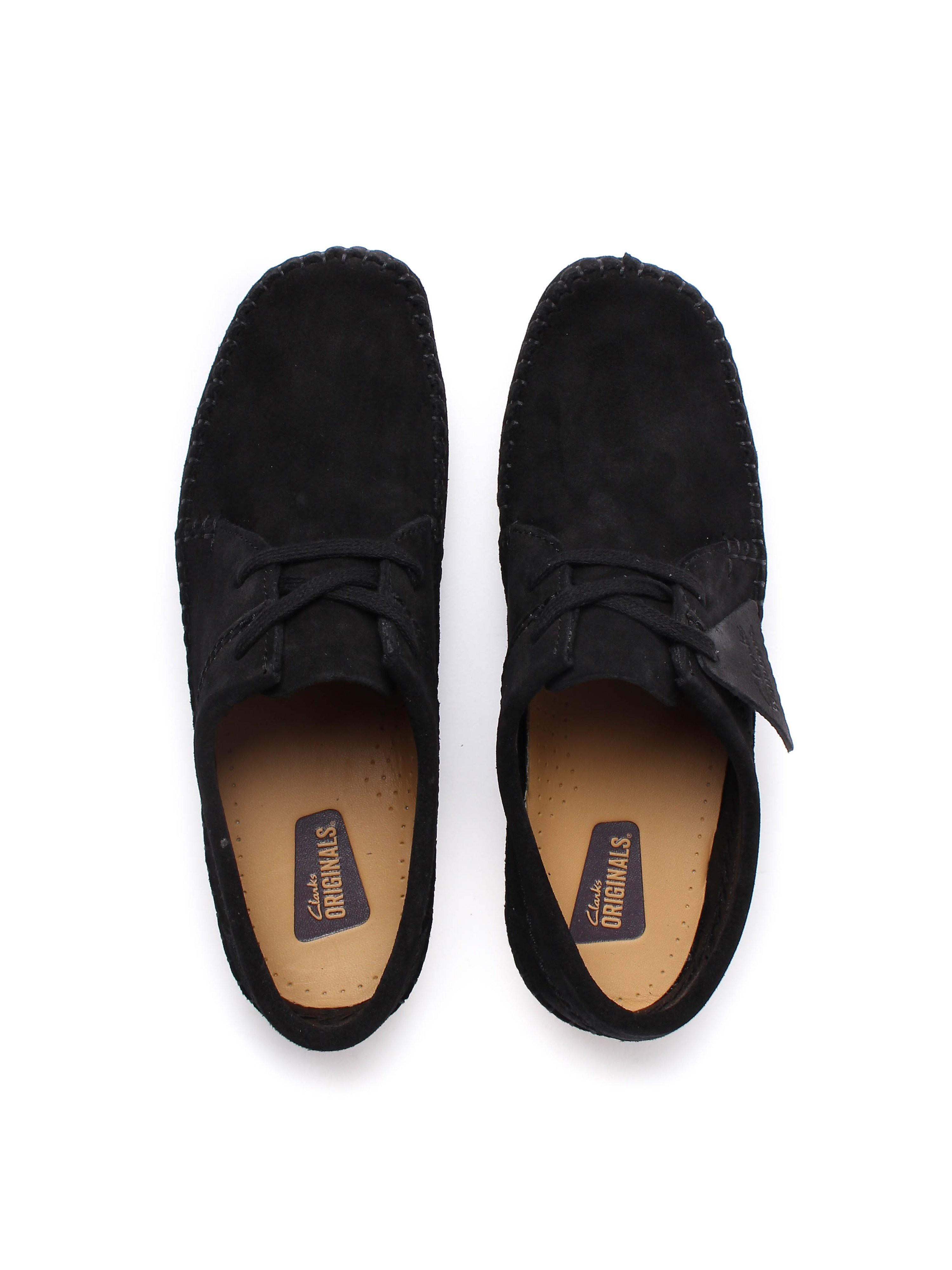 Clarks Originals Women's Weaver. Suede Lace-Up Shoes - Black