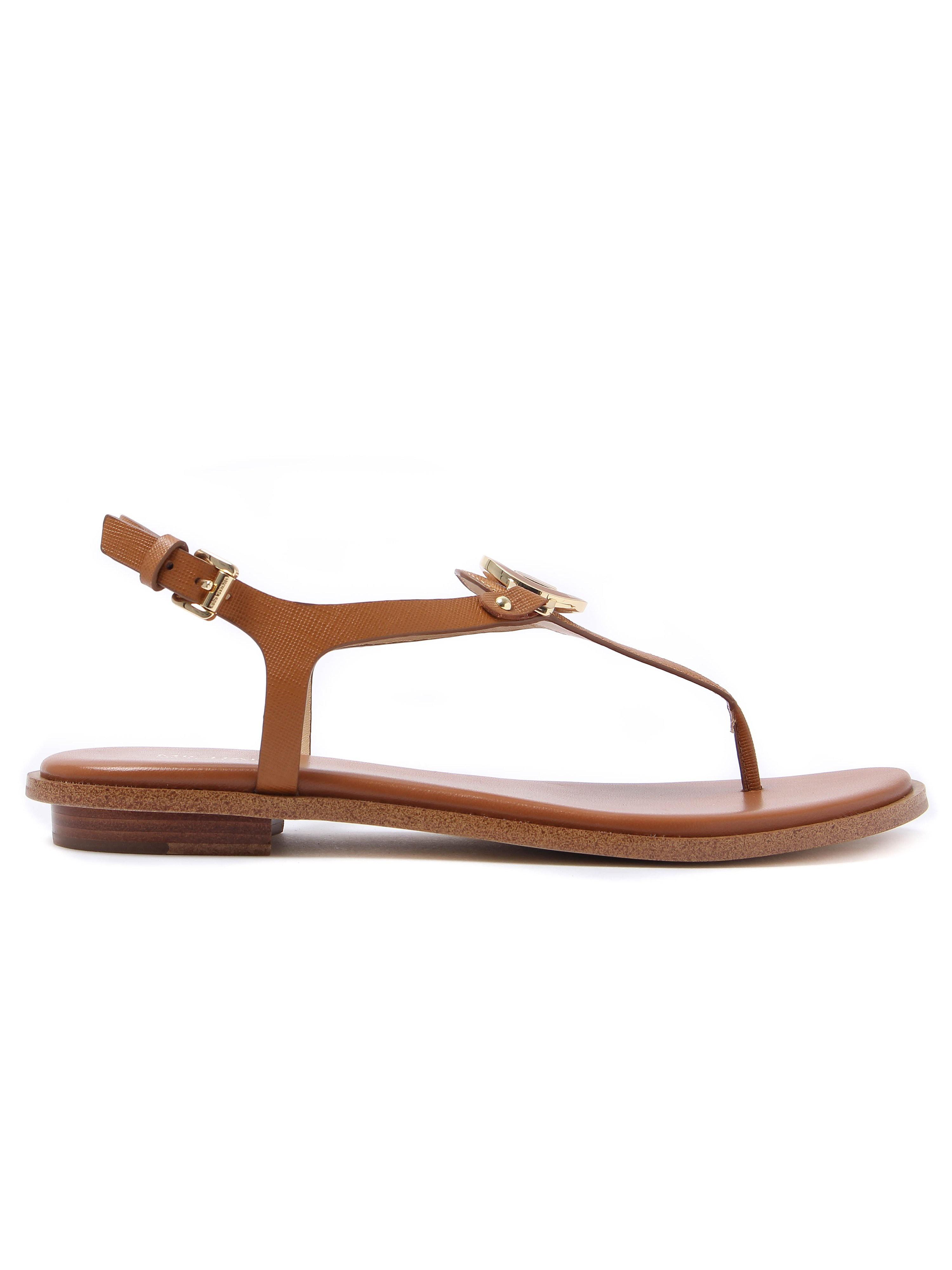 MICHAEL Michael Kors Women's Lee Thong Leather Sandals - Acorn