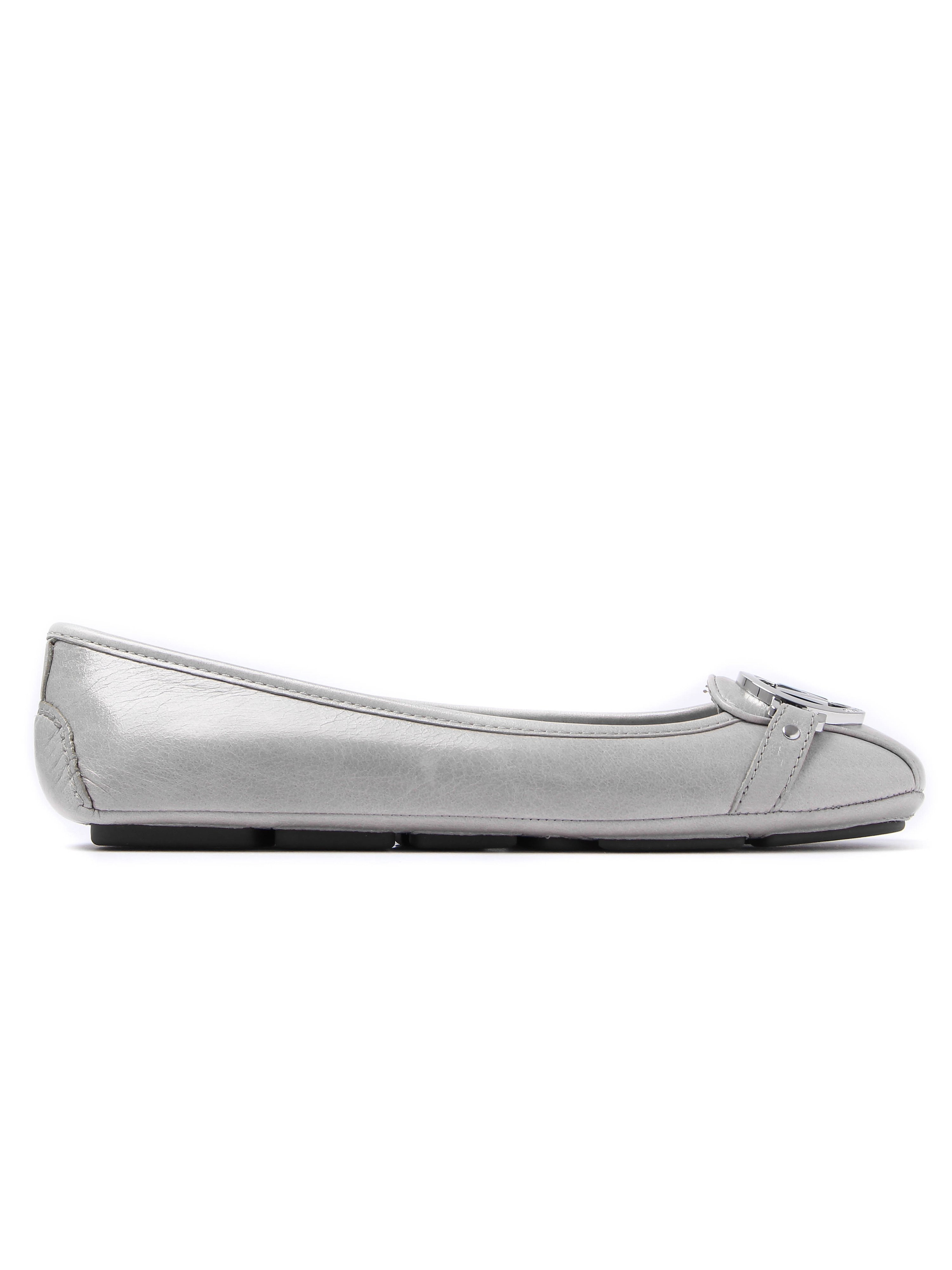 MICHAEL Michael Kors Women's Fulton Moc Leather Ballerinas - Pearl Grey