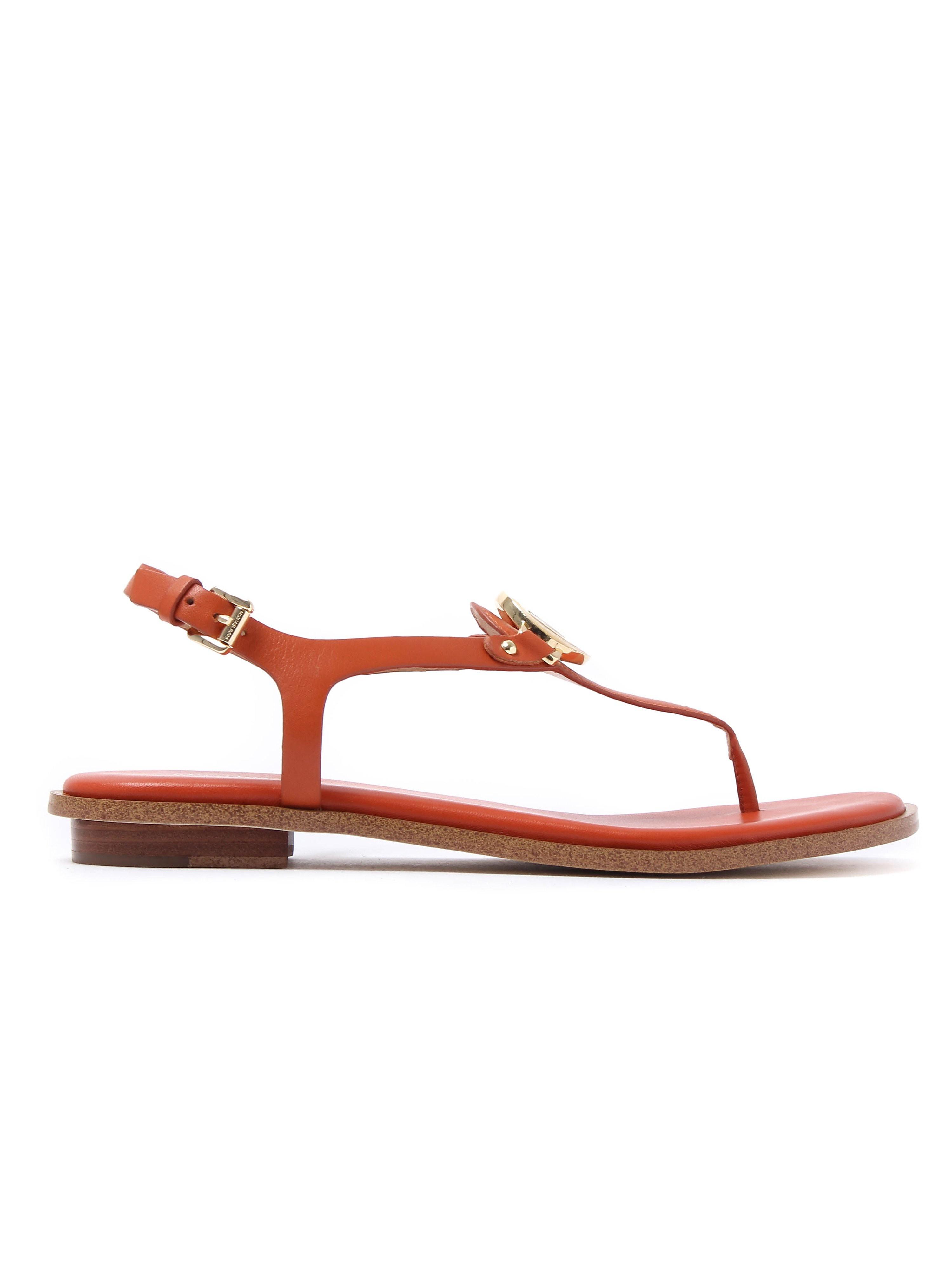 MICHAEL Michael Kors Women's Lee Thong Leather Sandals - Orange