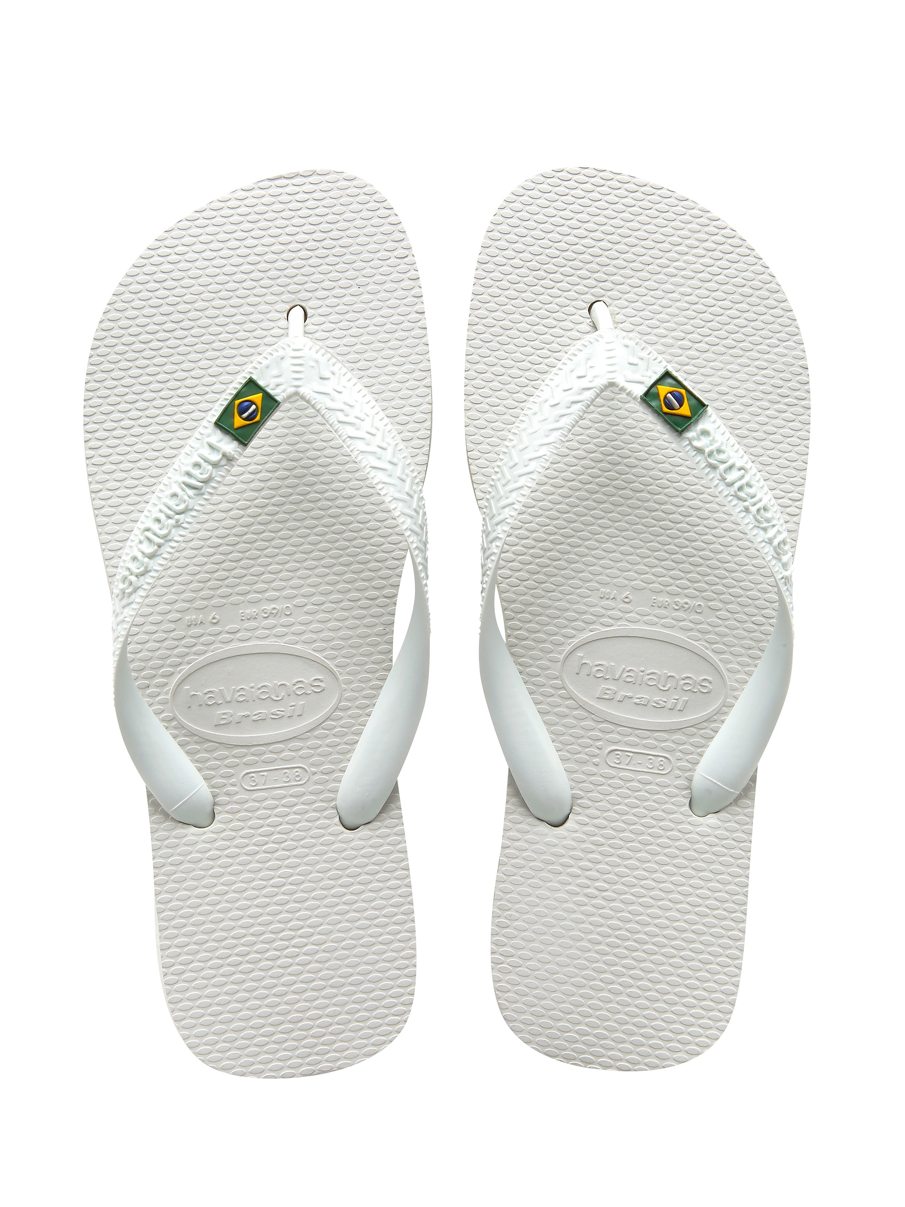 Havaianas Brazil Logo Flip Flops - White
