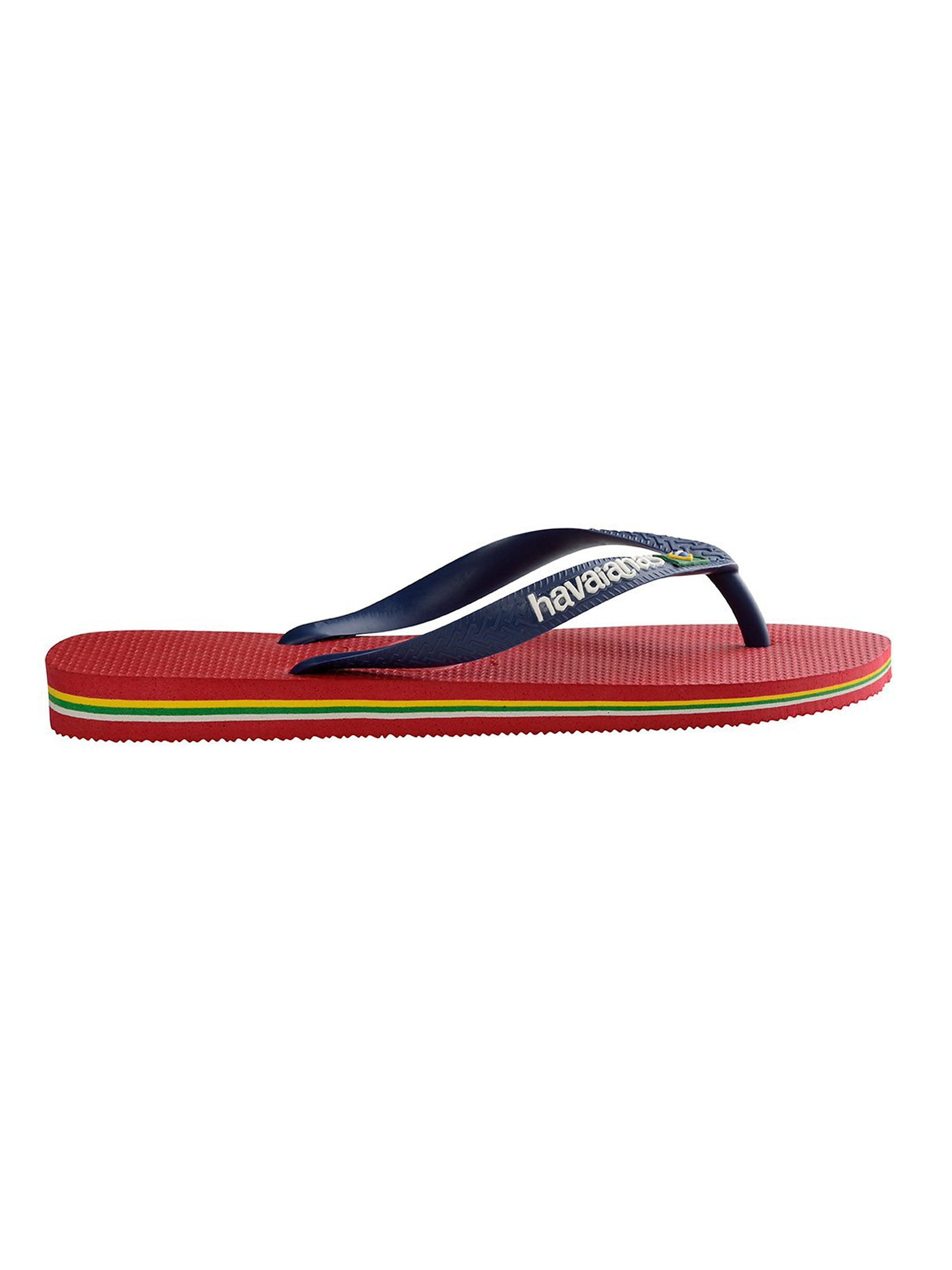 Havaianas Men's Brazil Logo Flip Flops - Red