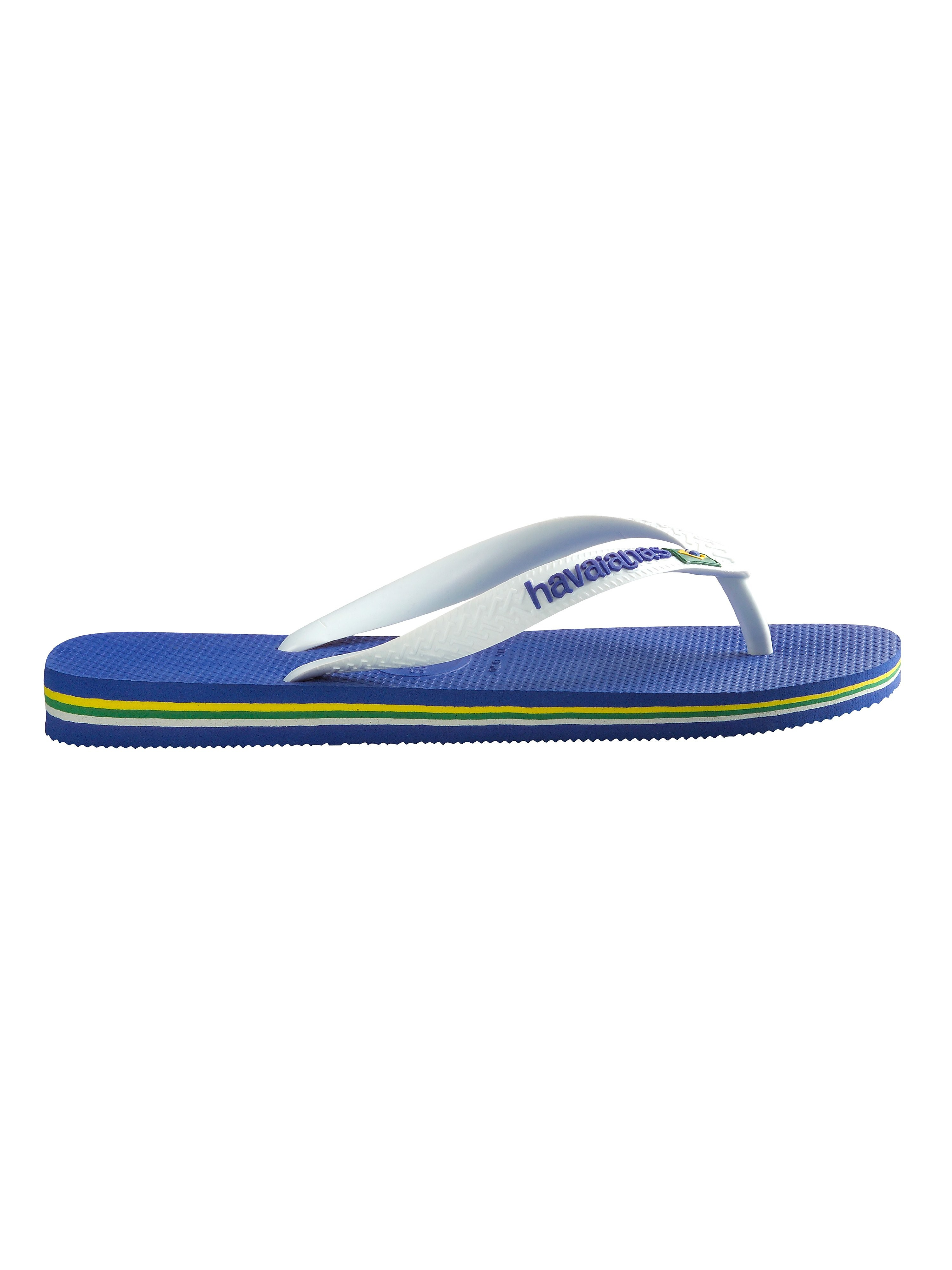 Havaianas Brazil Logo Flip Flops - Marine Blue