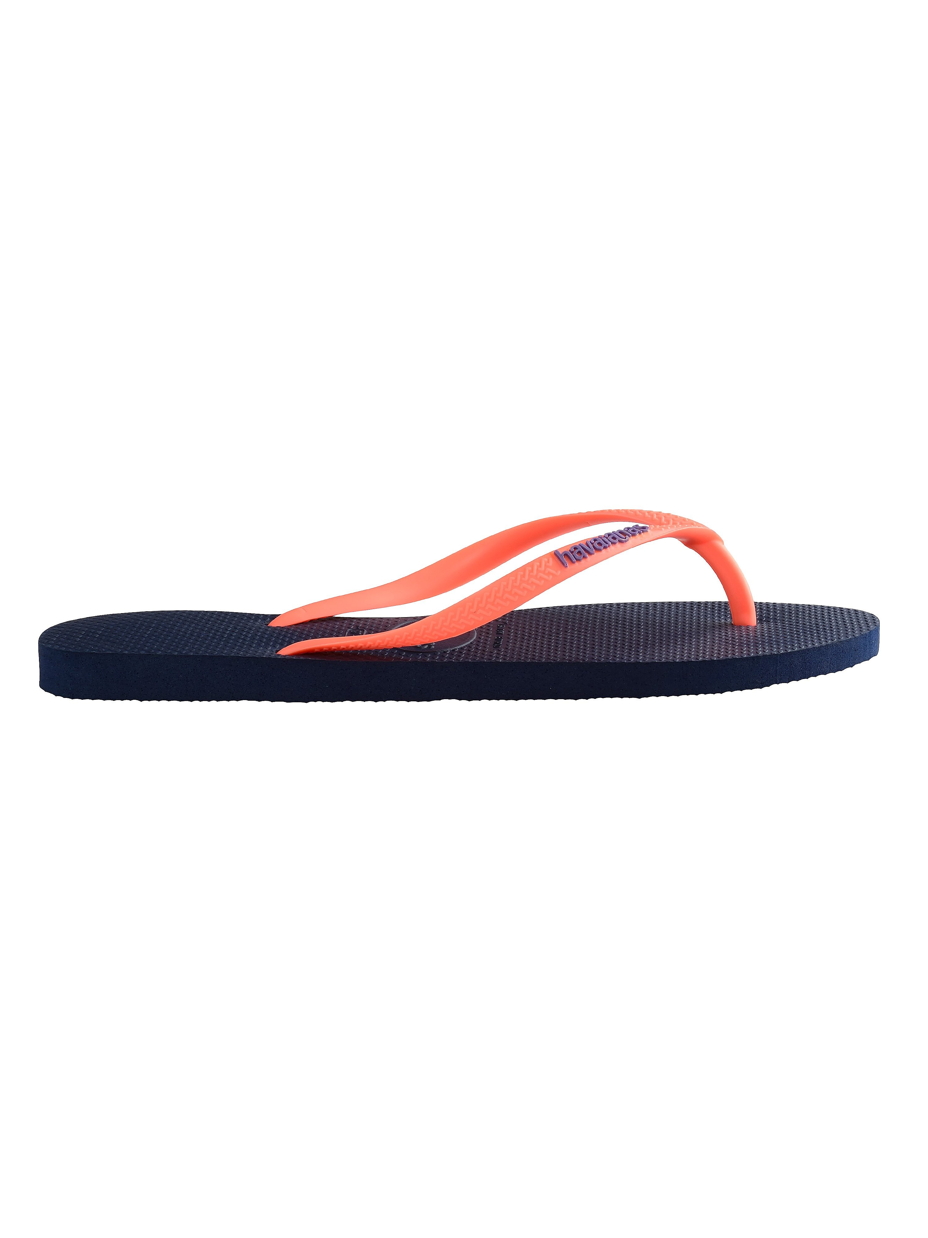 Havaianas Women's Slim Logo Flip Flop - Navy Blue