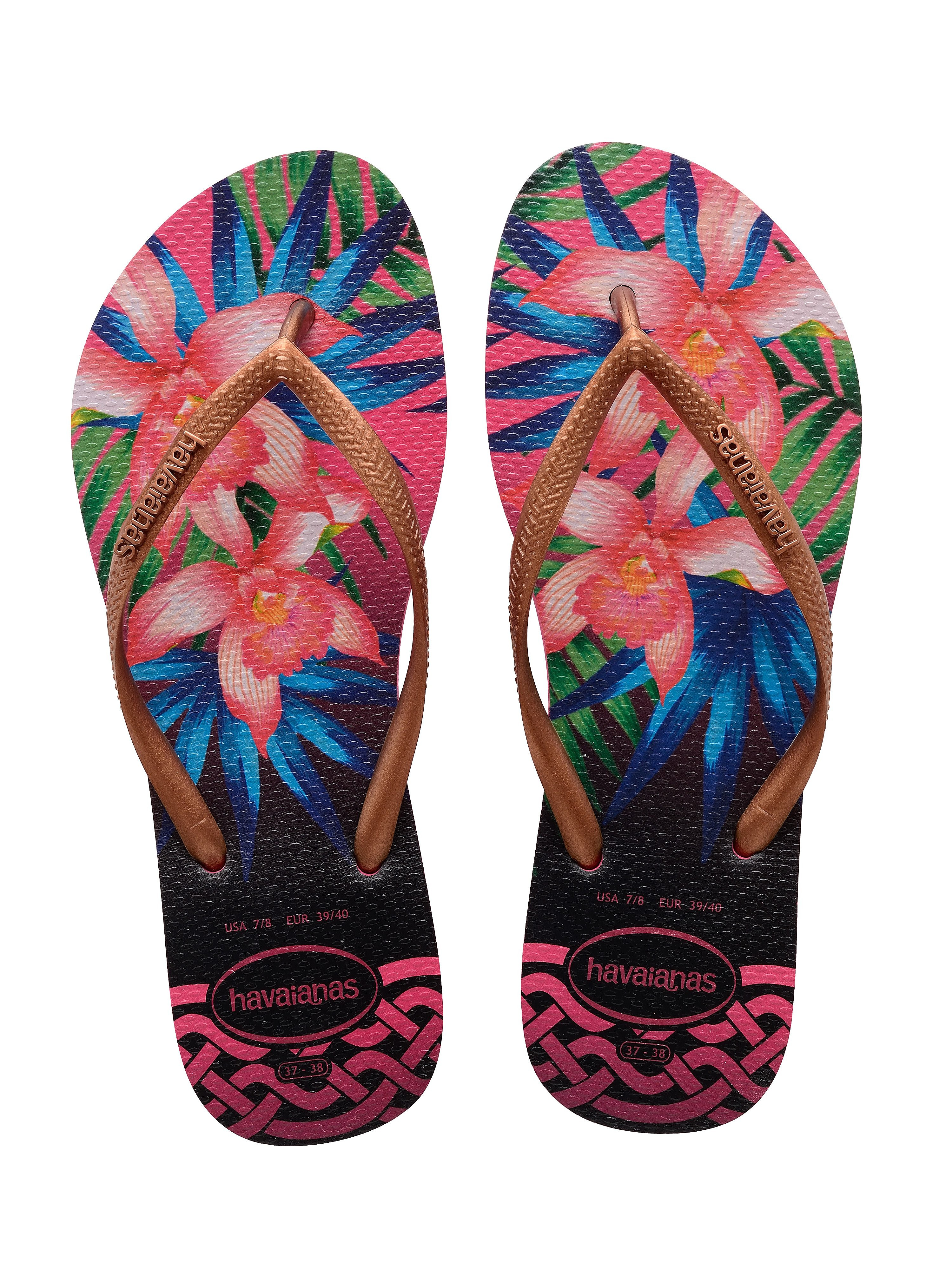 Havaianas Women's Slim Tropical Flip Flops - Rose