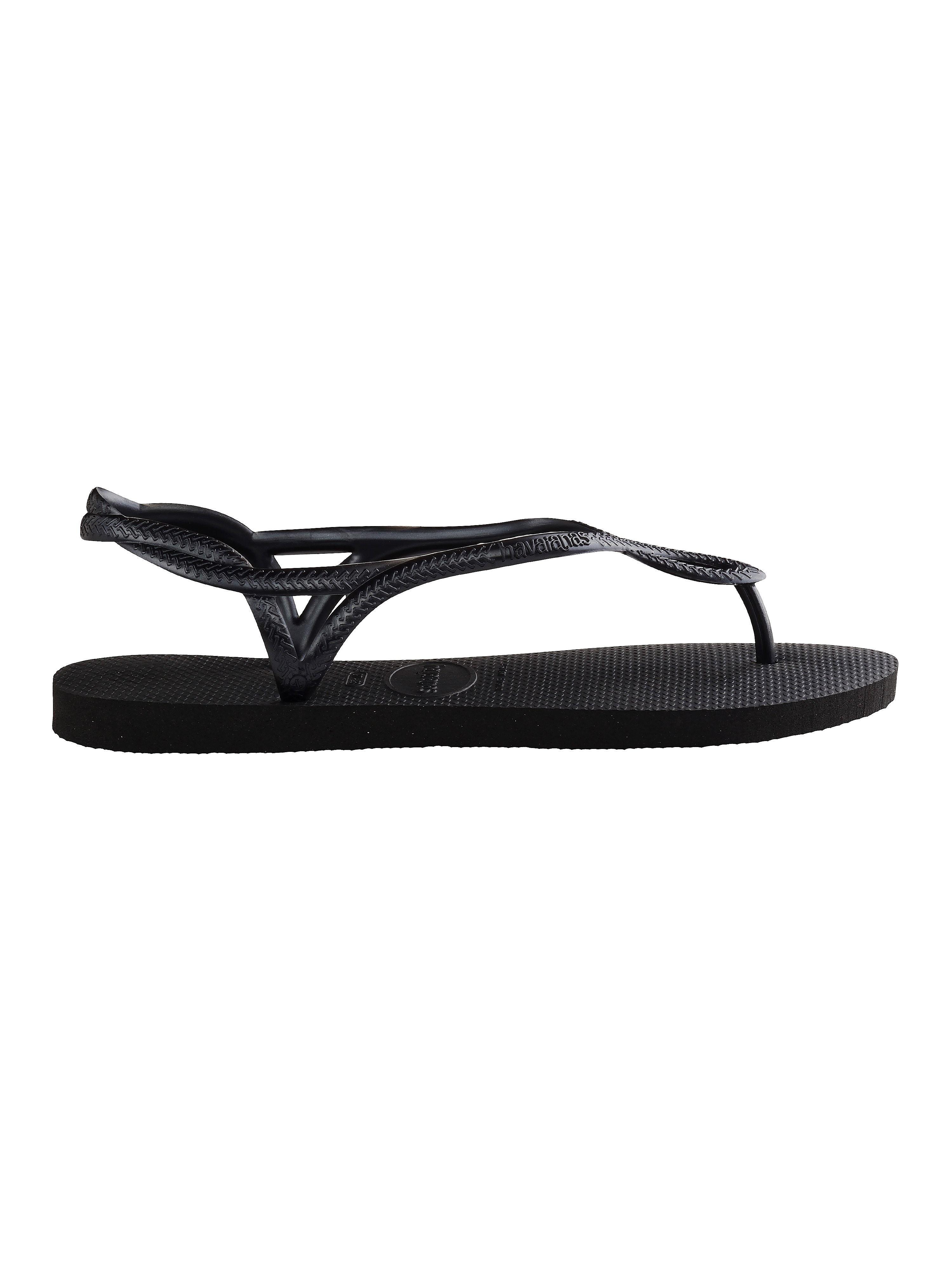 Havaianas Women's Luna Flip Flops - Black
