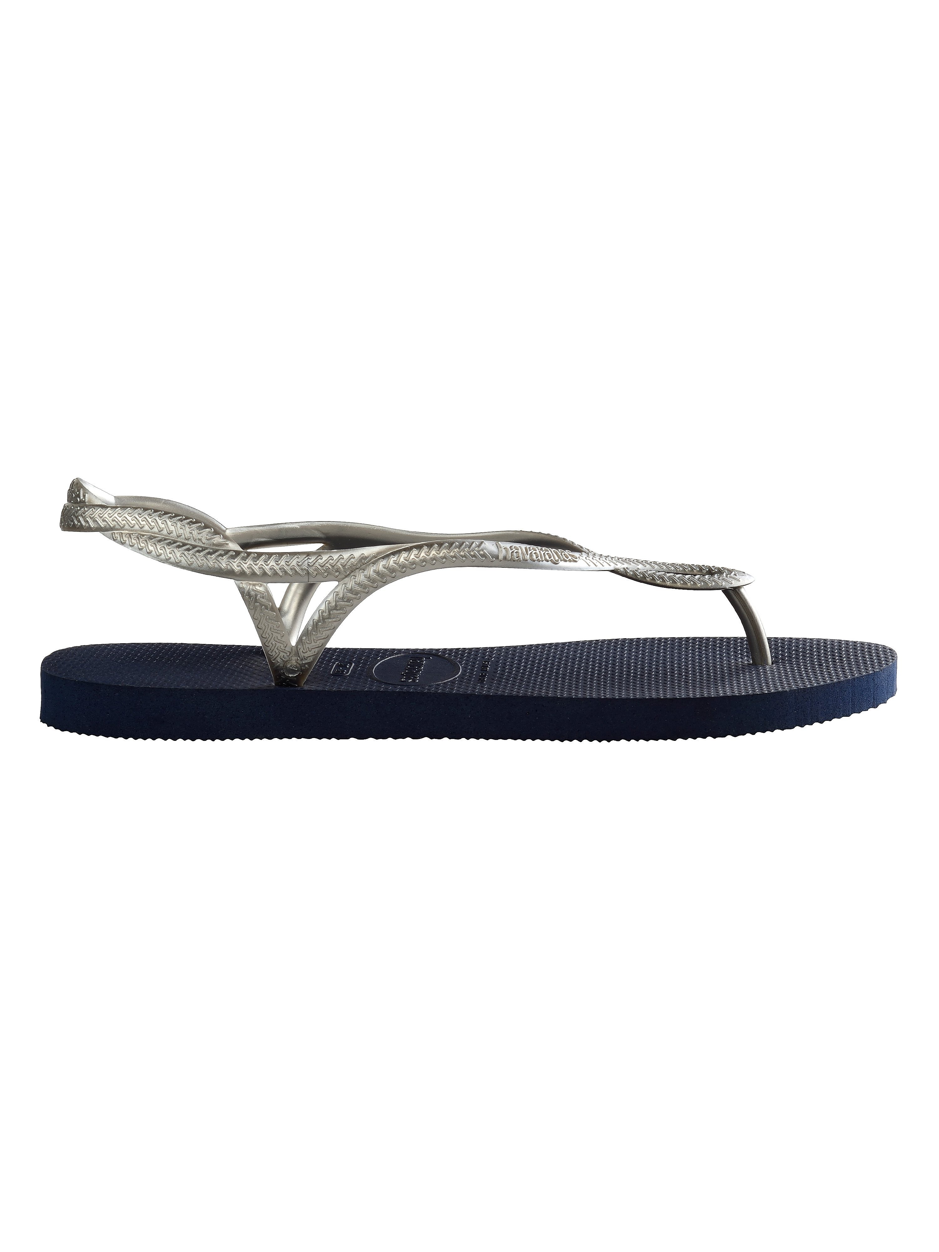 Havaianas Women's Luna Flip Flops - Navy/Silver