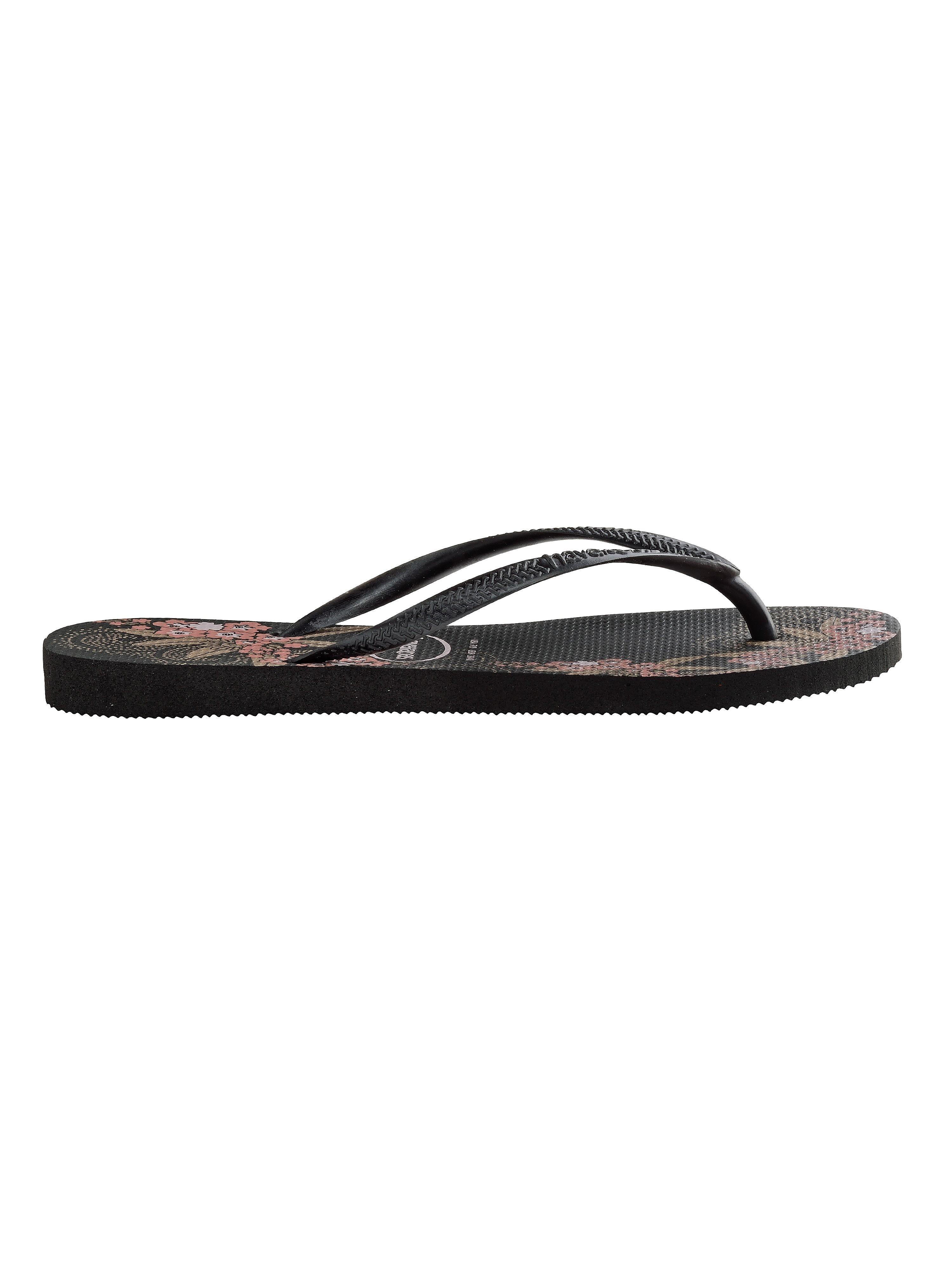 Havaianas Women's Slim Organic Flip Flops - Black