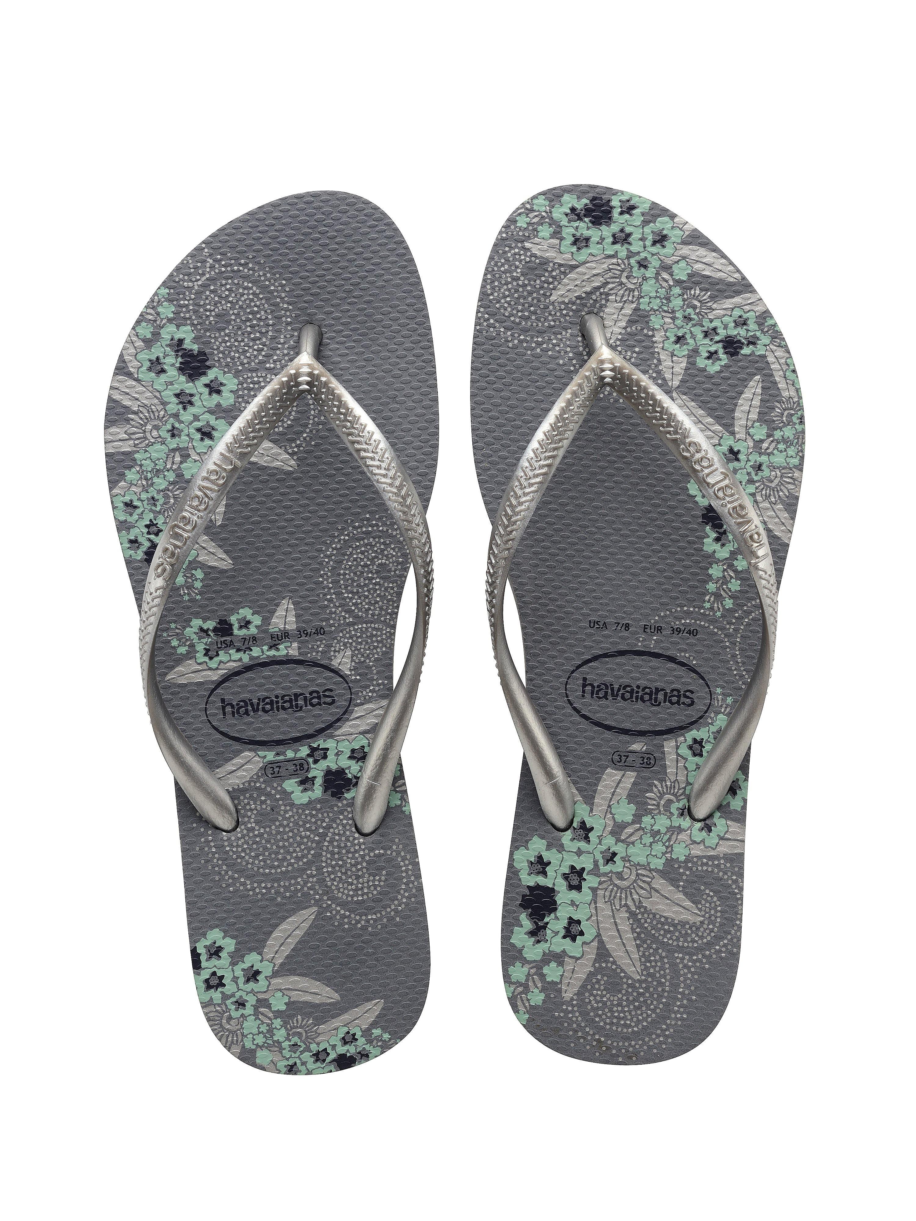 Havaianas Women's Slim Organic Flip Flops - Steel Grey
