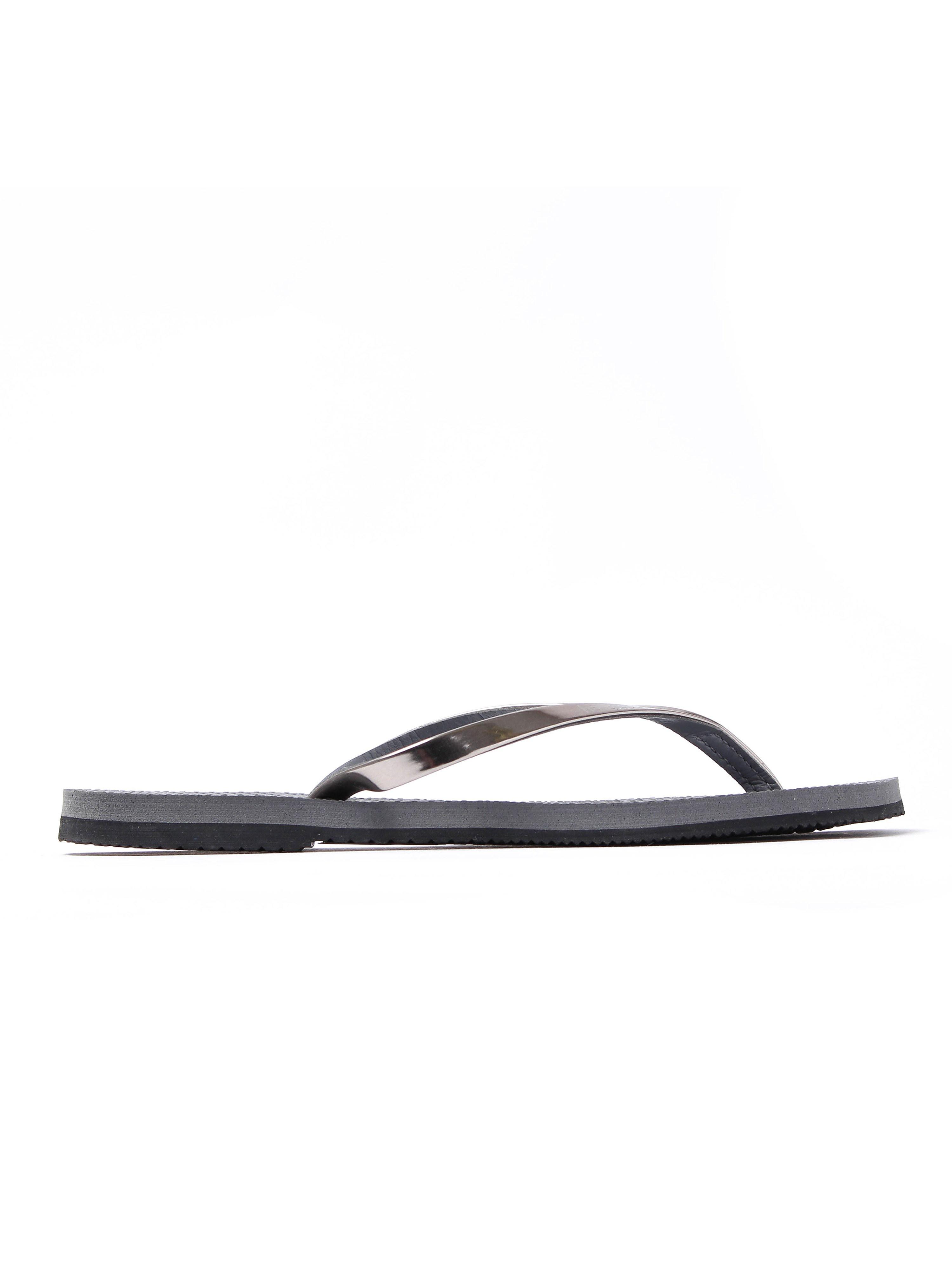 Havaianas Junior's You Met Leather Strap Flip Flops - Steel Grey