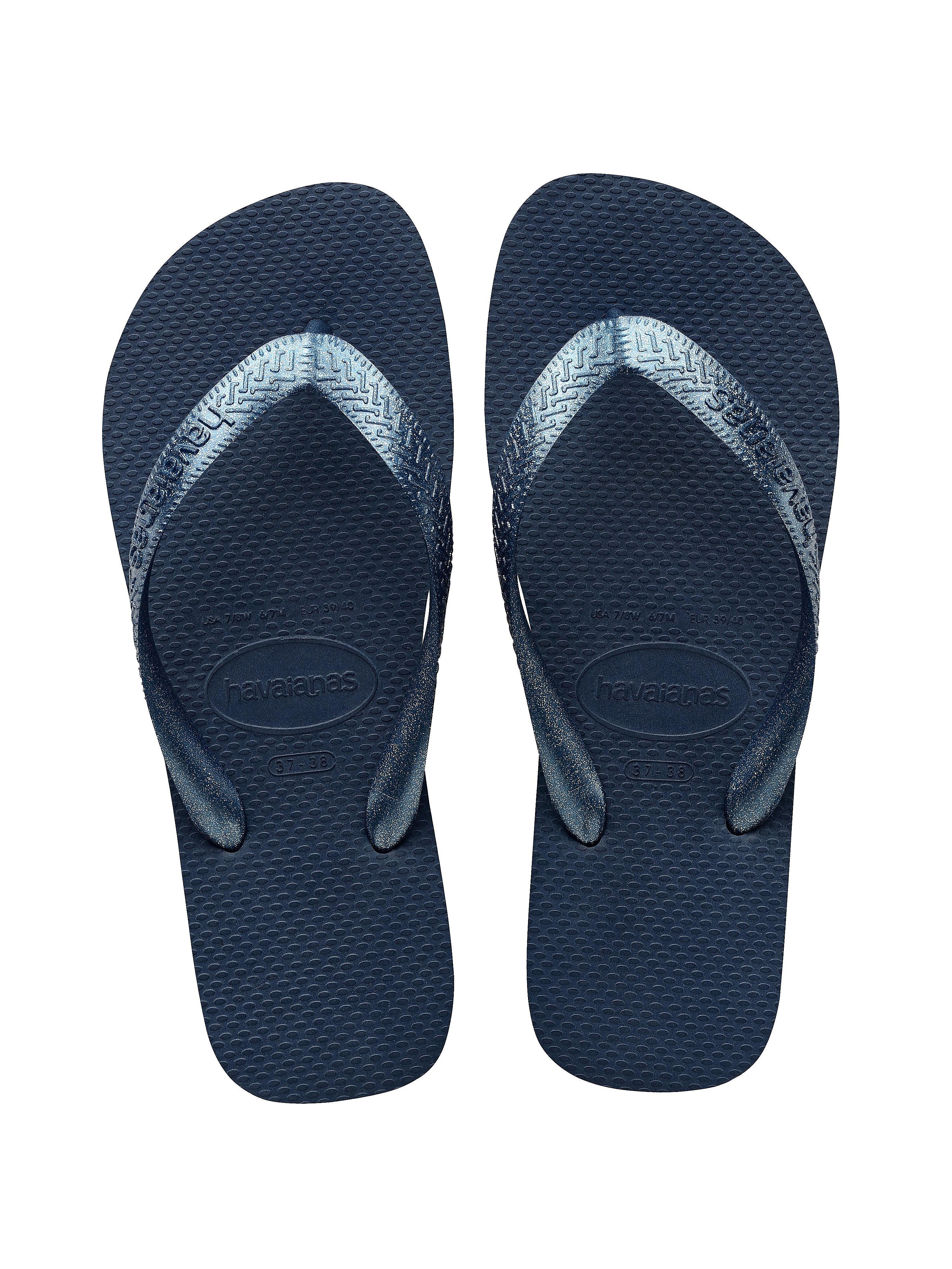 Havaianas Women's Top Tira Flip Flops - Indigo Blue