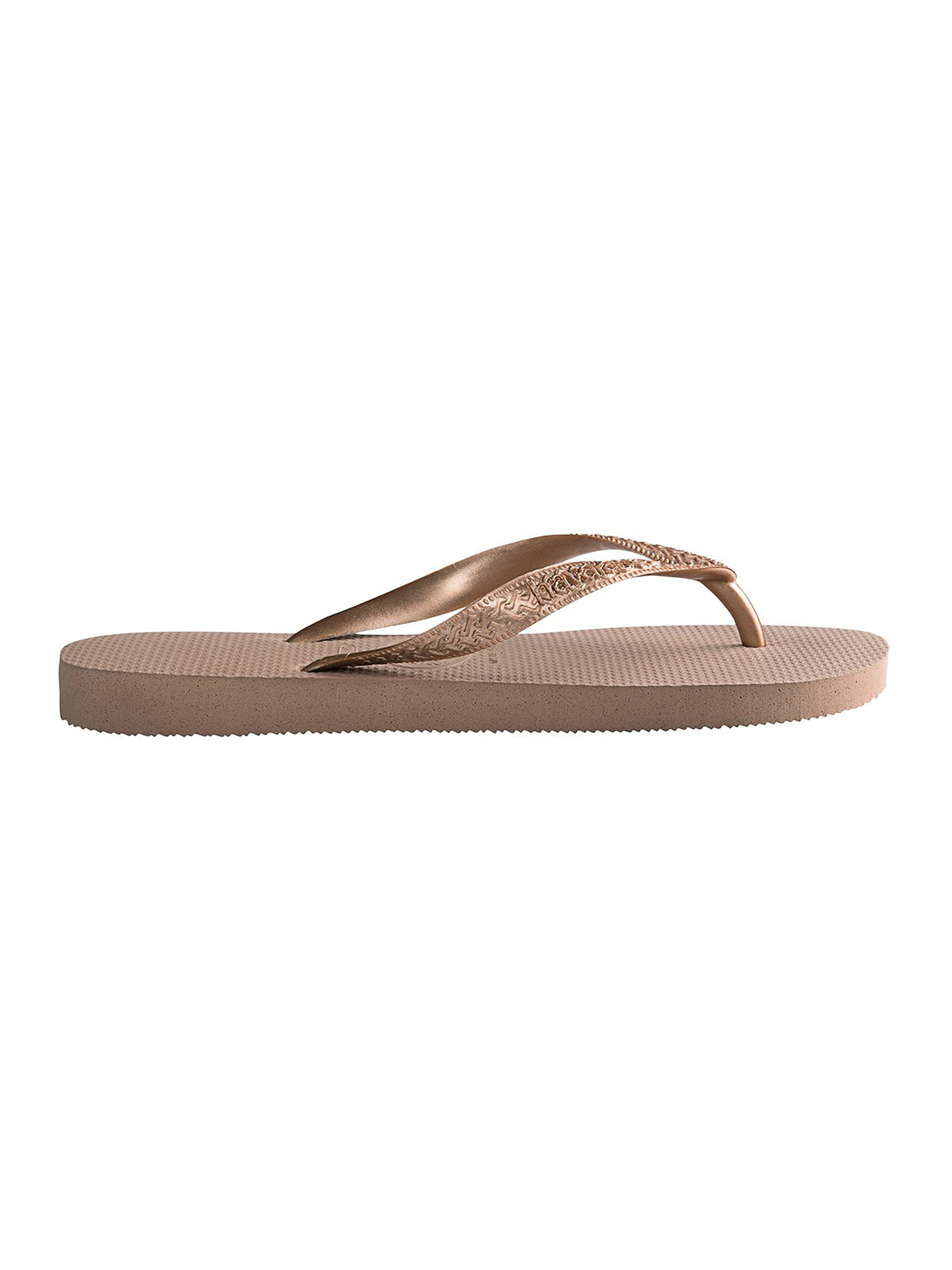 Havaianas Women's Top Tiras Flip Flops - Rose Gold