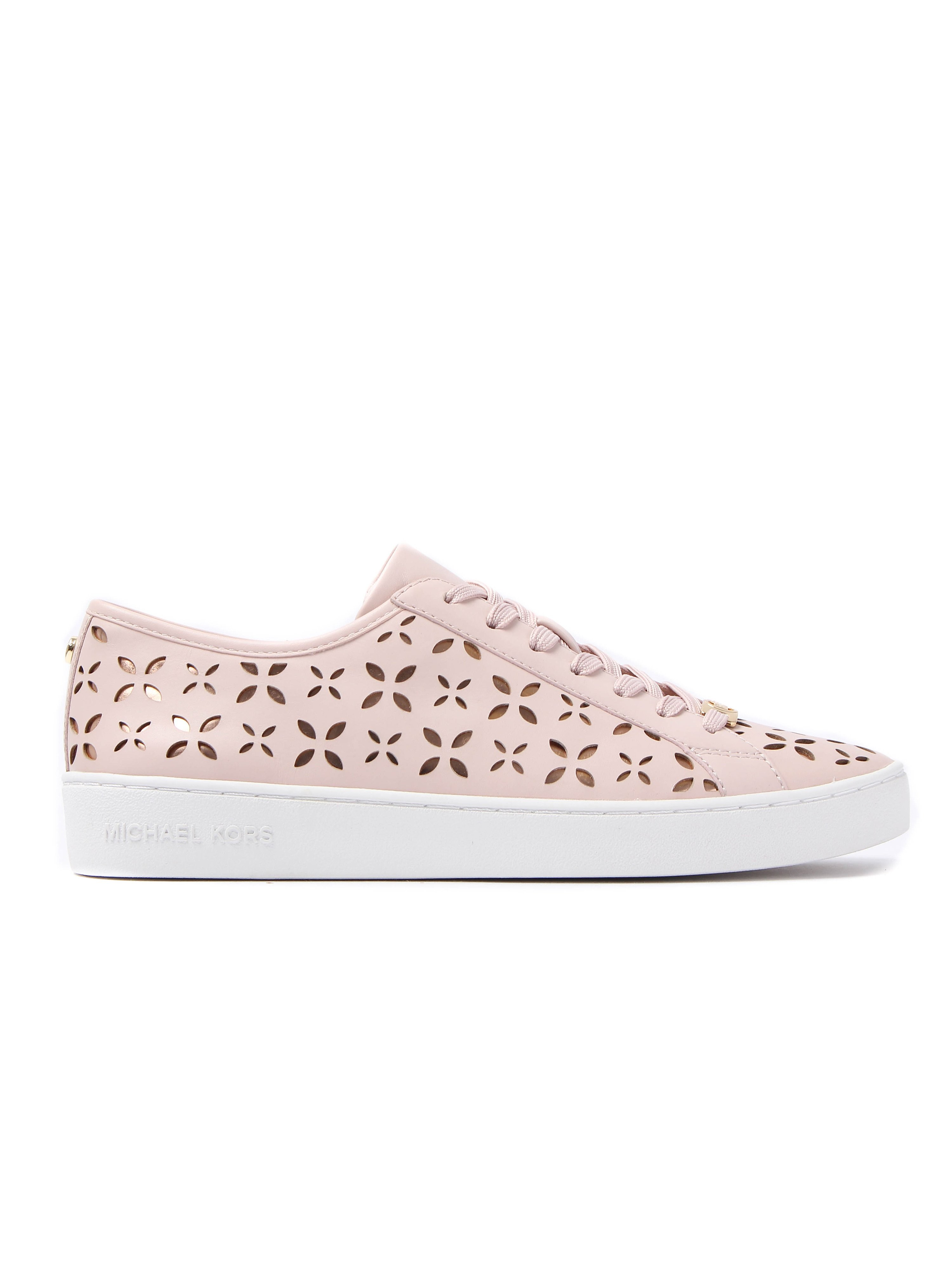 MICHAEL Michael Kors Women's Keaton Lasered Leather Trainers - Soft Pink