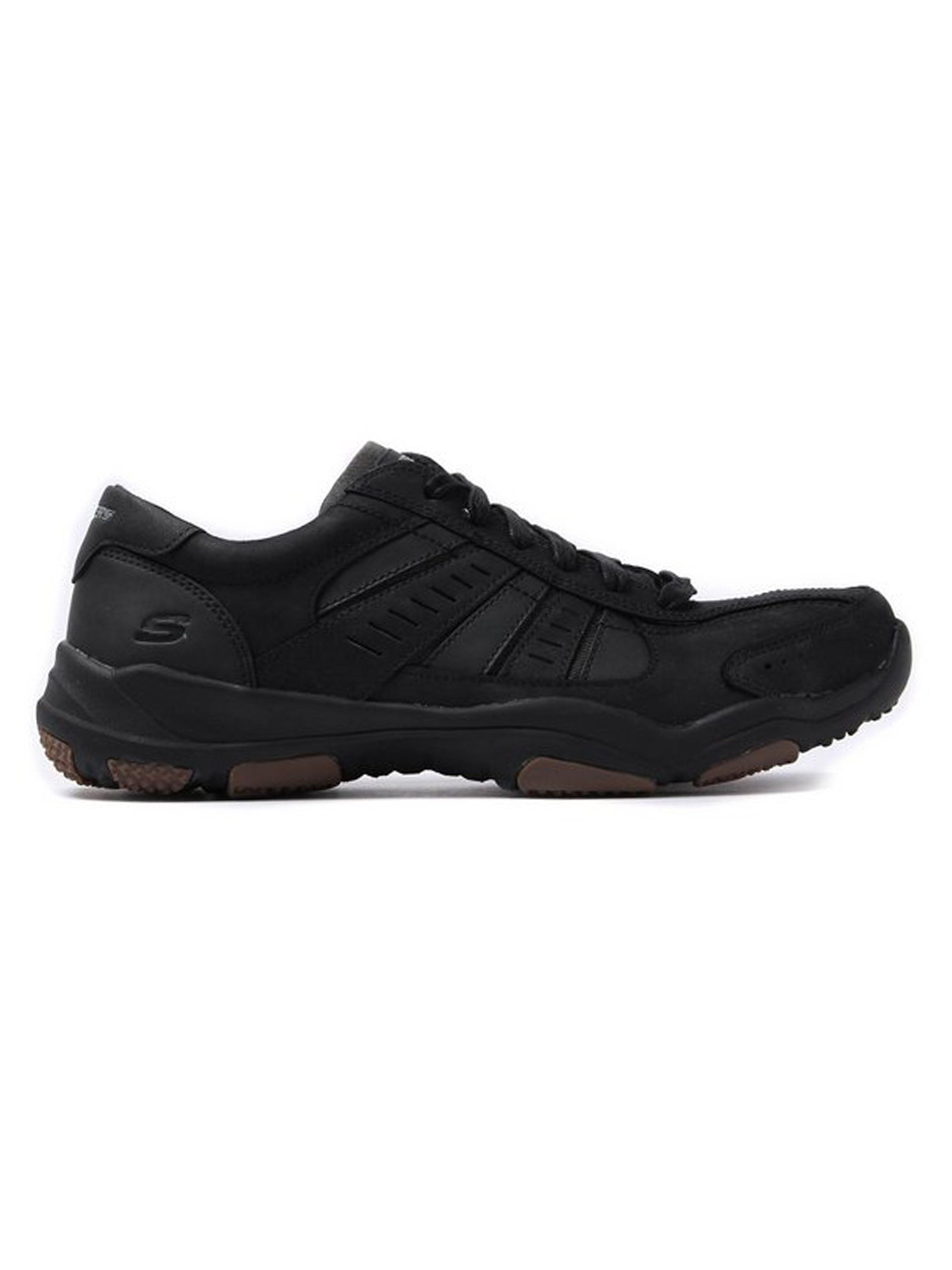 Skechers Men's Larson Nerick Lace-Up Leather Trainers - Black
