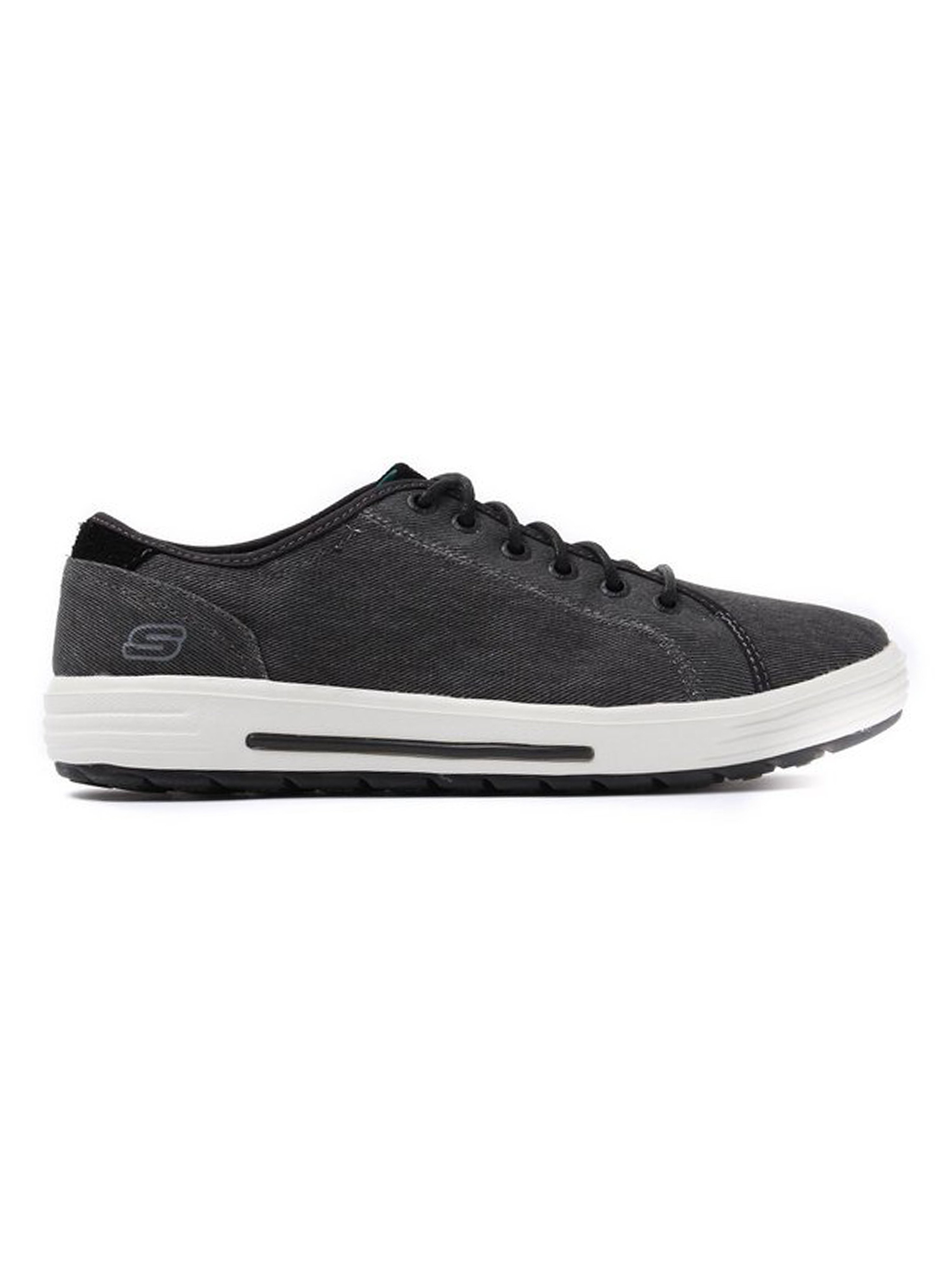 Skechers Men's Porter Meteno Trainers - Black Canvas
