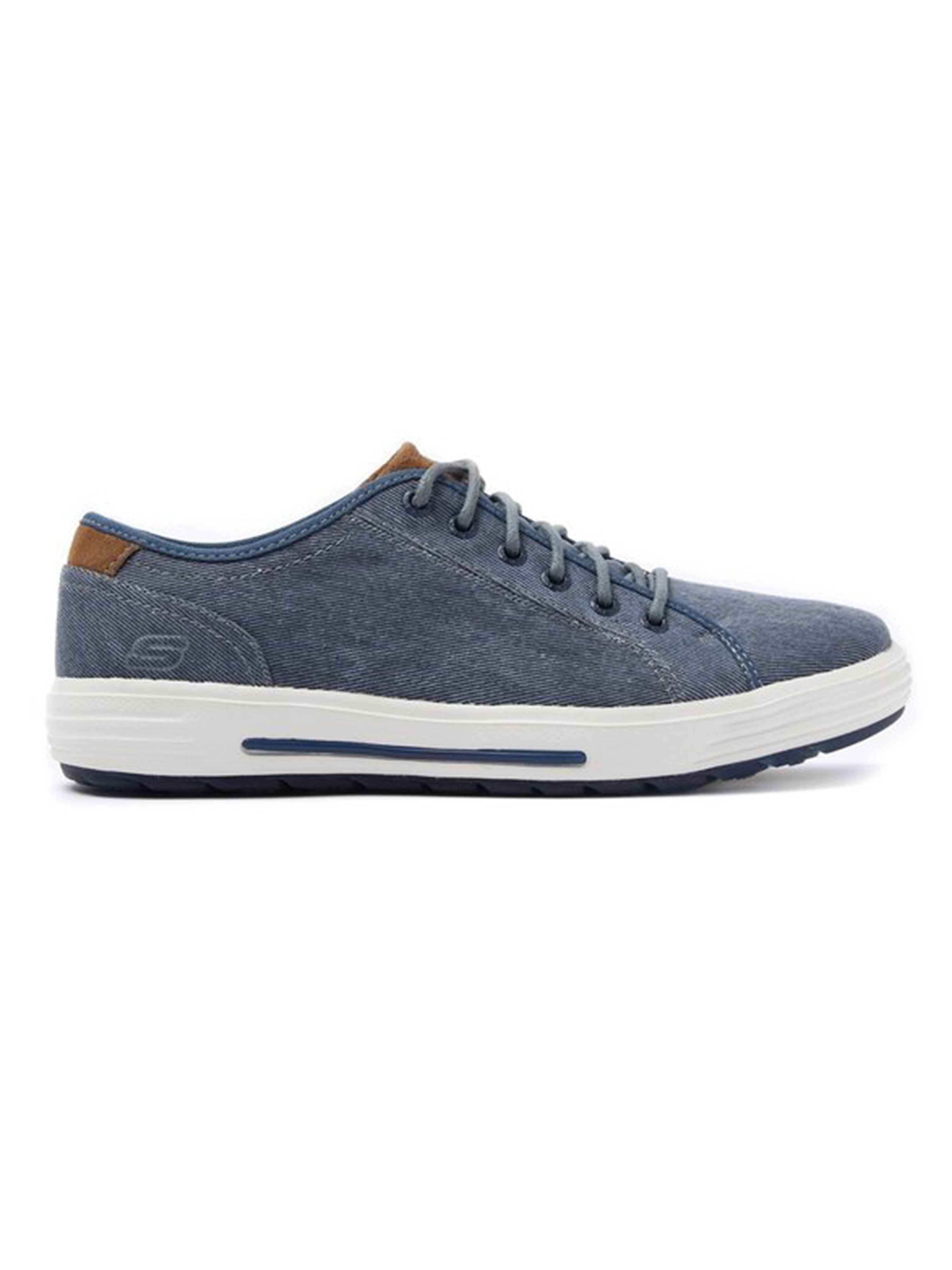 Skechers Men's Porter Meteno Canvas Trainers - Navy