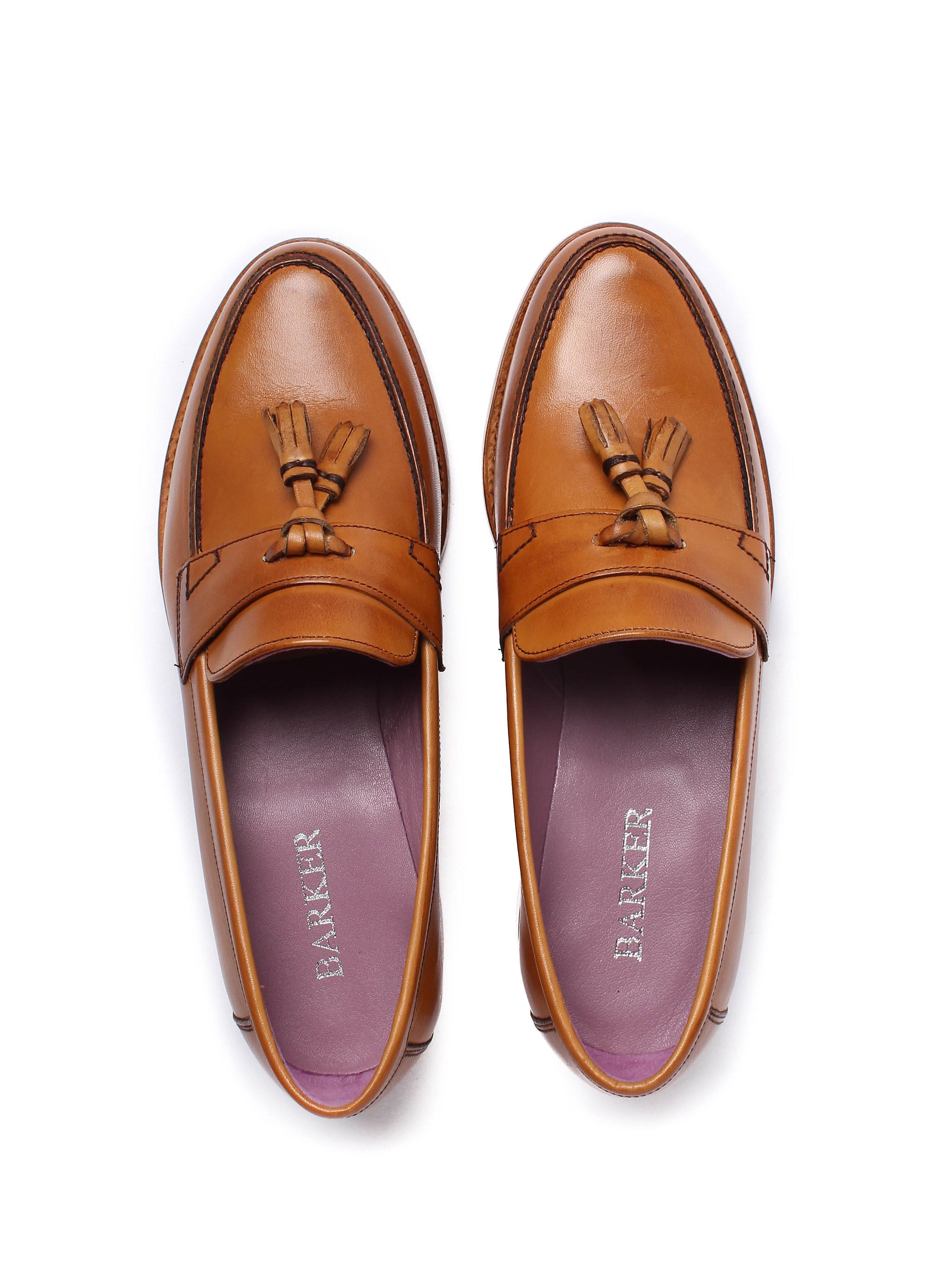 Barker Women's Imogen Classic Leather Loafers - Cedar Calf