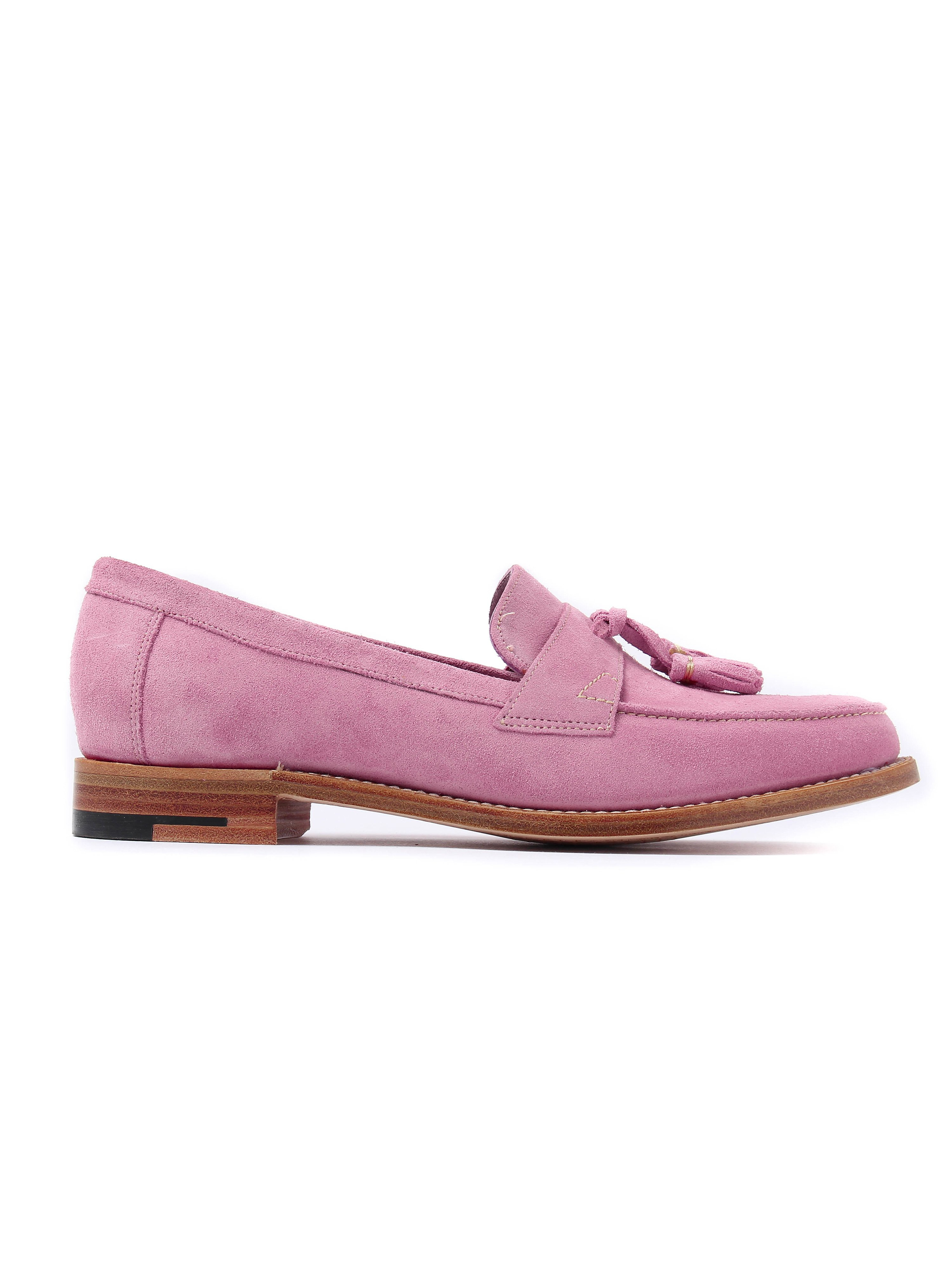 Barker Women's Imogen Classic Suede Loafers - Pink