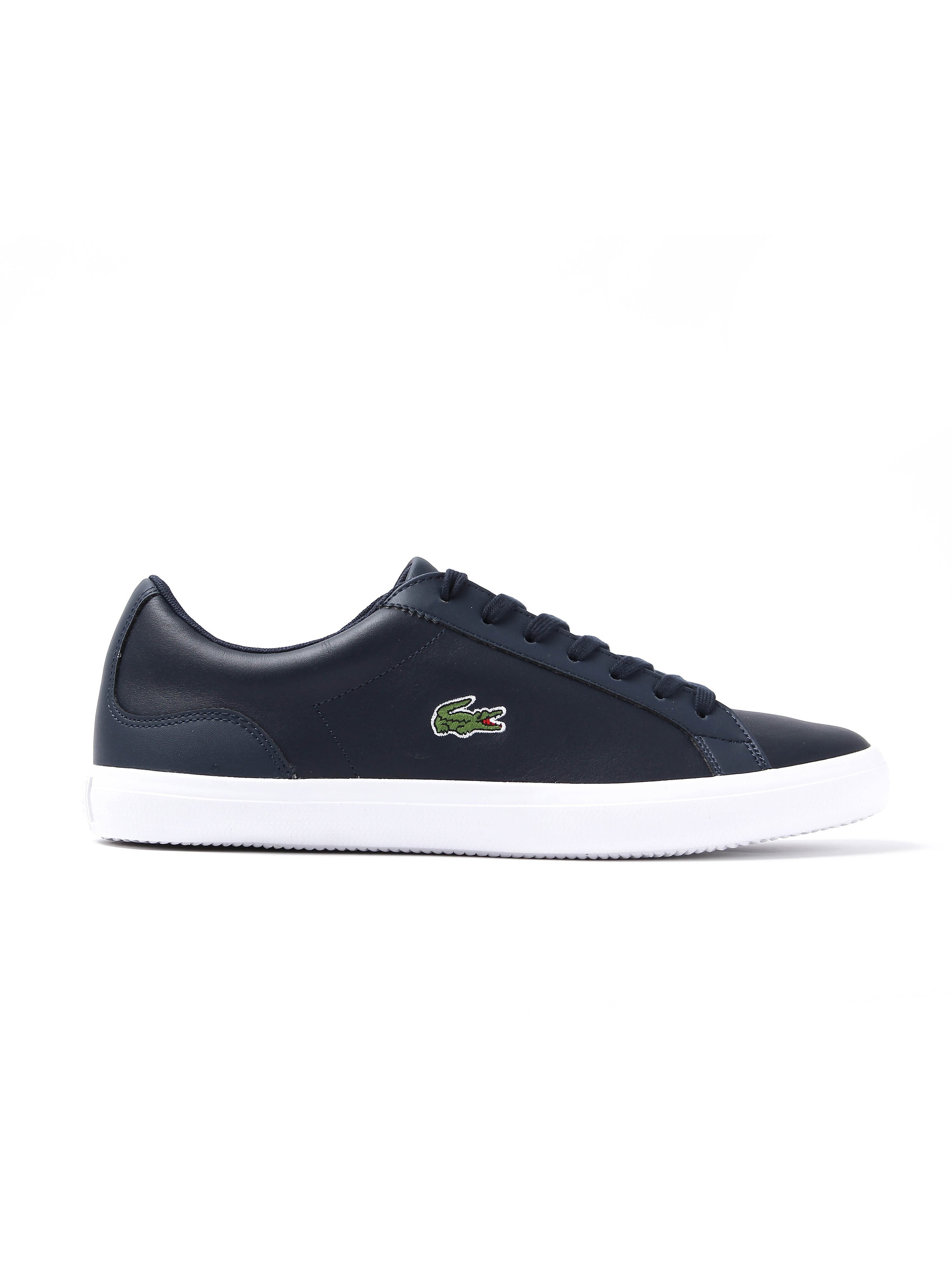 Lacoste Men's Lerond BL 1 CAM Leather Trainers - Navy
