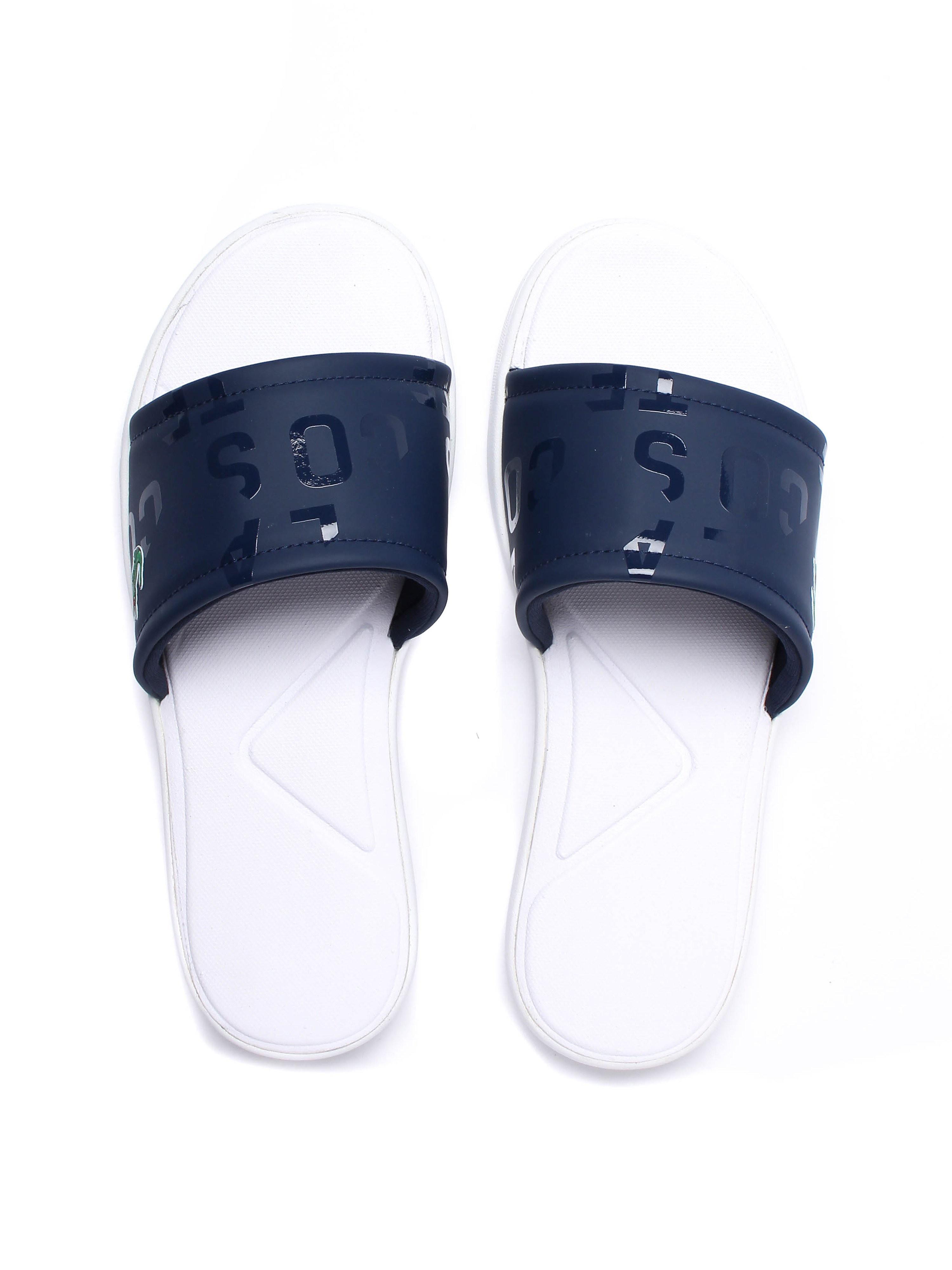 Lacoste Women's L.30 Logo Slide Sandals - Navy