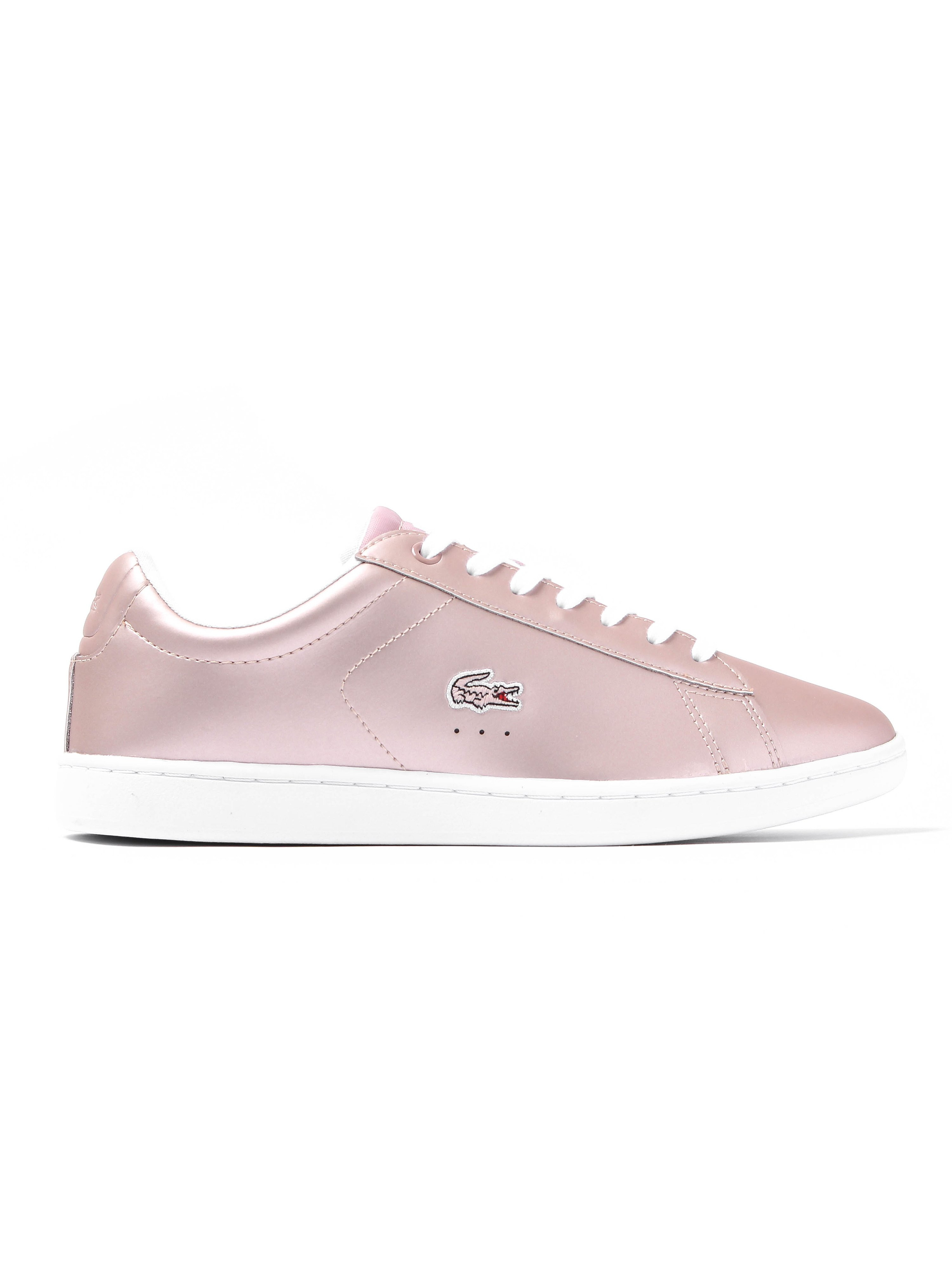 Lacoste Women's Carnavy EVO 117 3 Leather Trainers - Metallic Pink