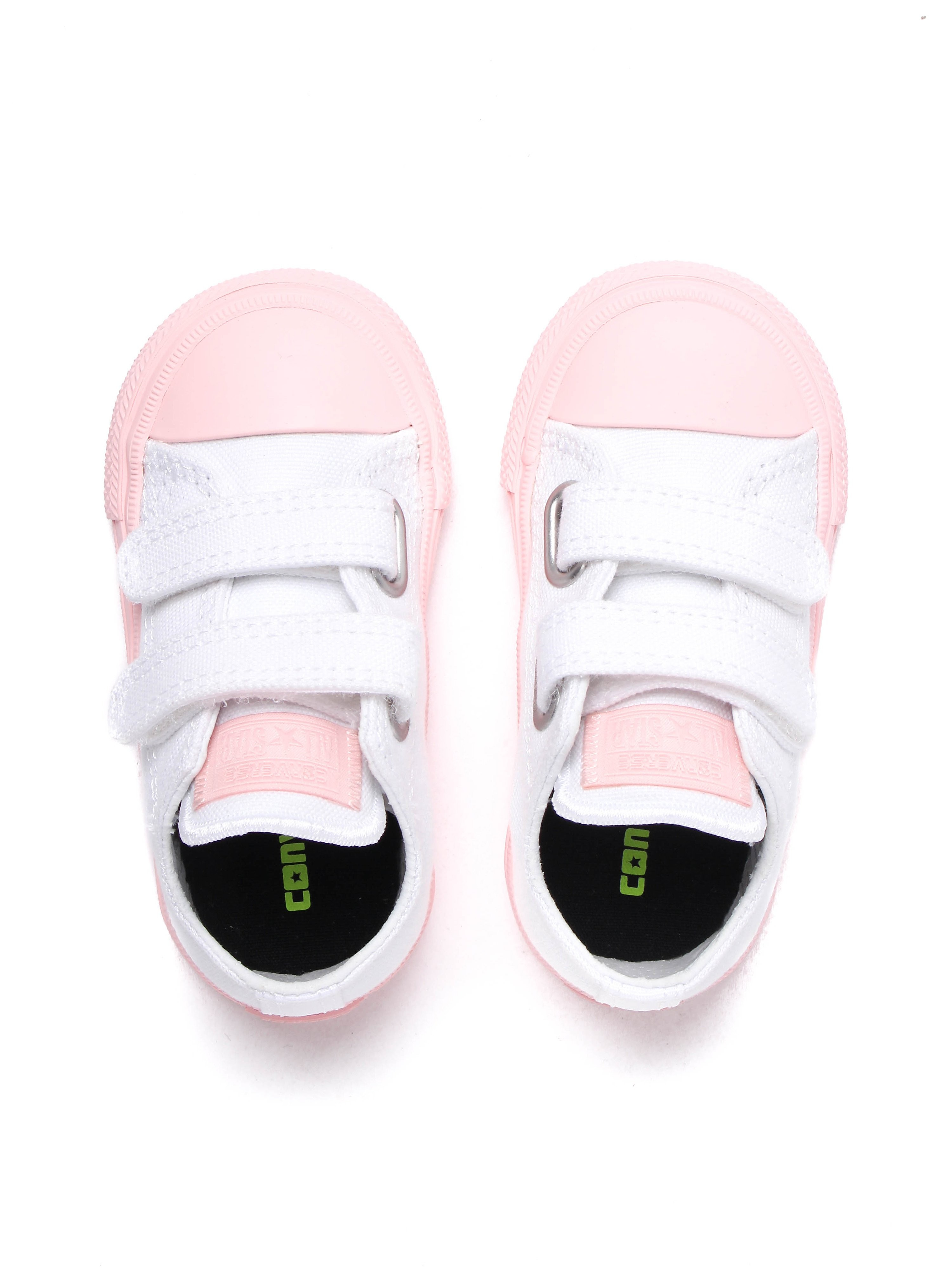 Converse Infant Chuck Taylor All Star 2V OX Canvas Trainers - White & Vapor Pink