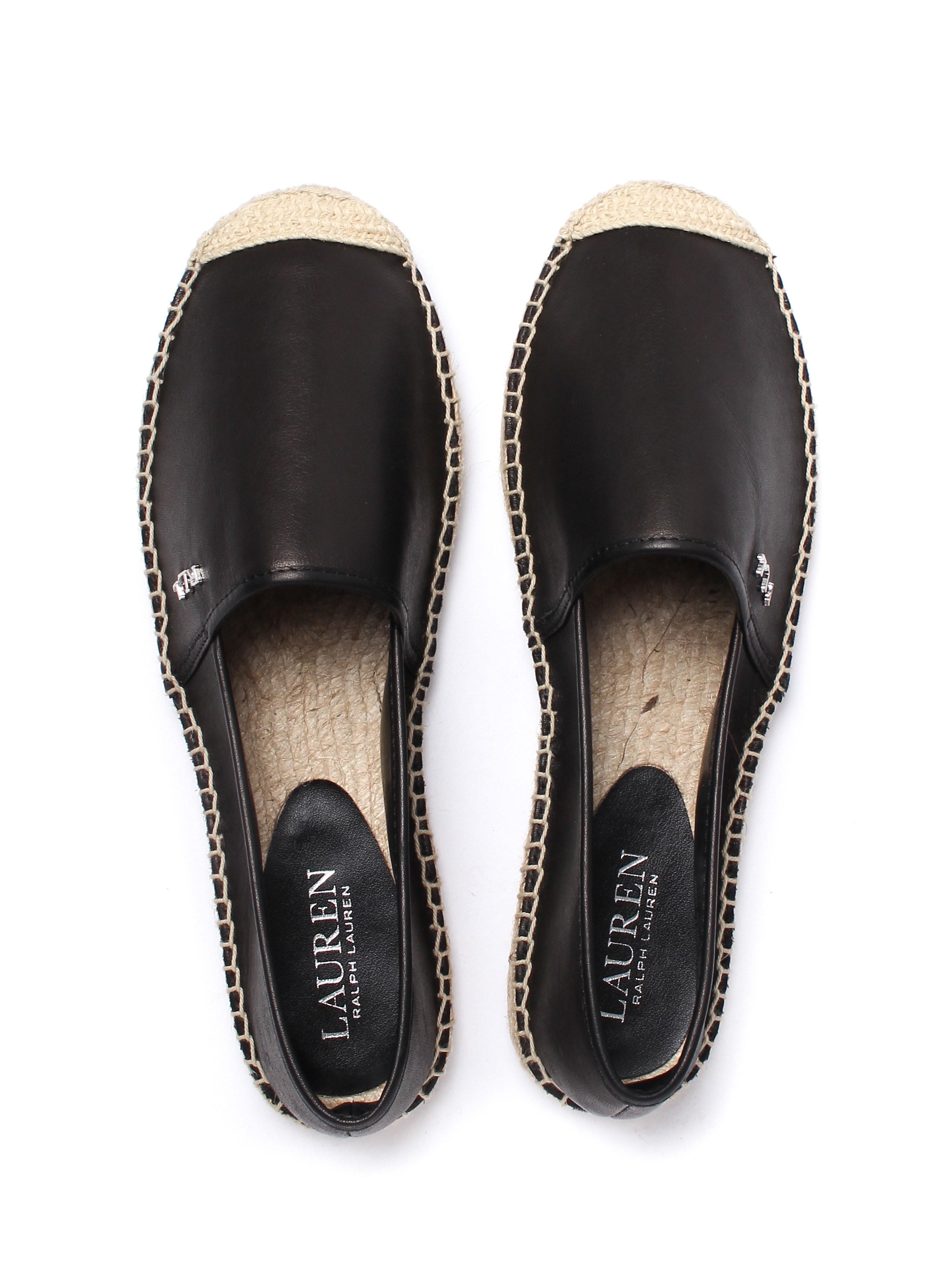 Lauren Ralph Lauren Women's Danita Suede Slip On Espadrilles - Casual Black