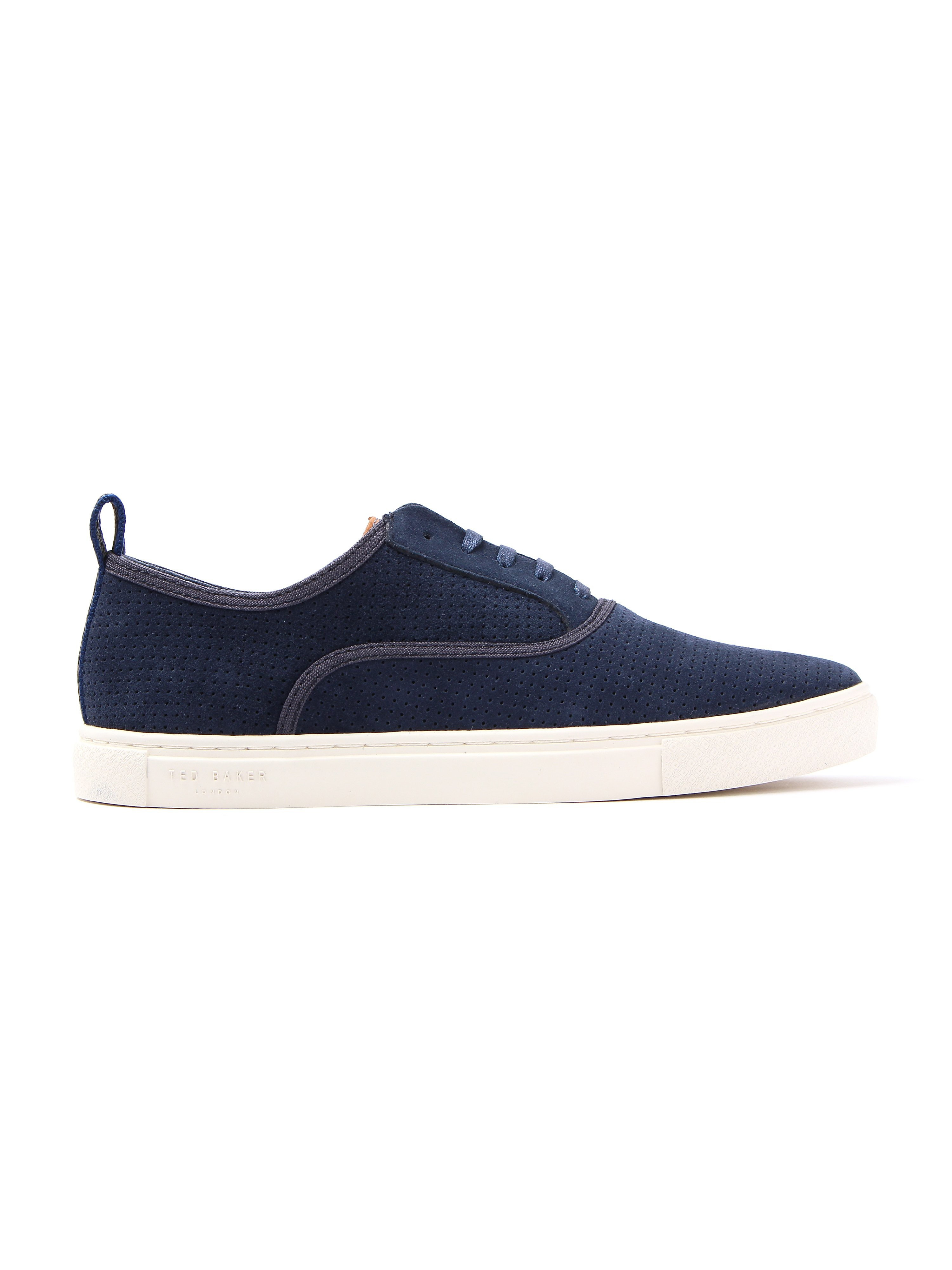 Ted Baker Men's Odonel Perforated Suede Trainers - Dark Blue