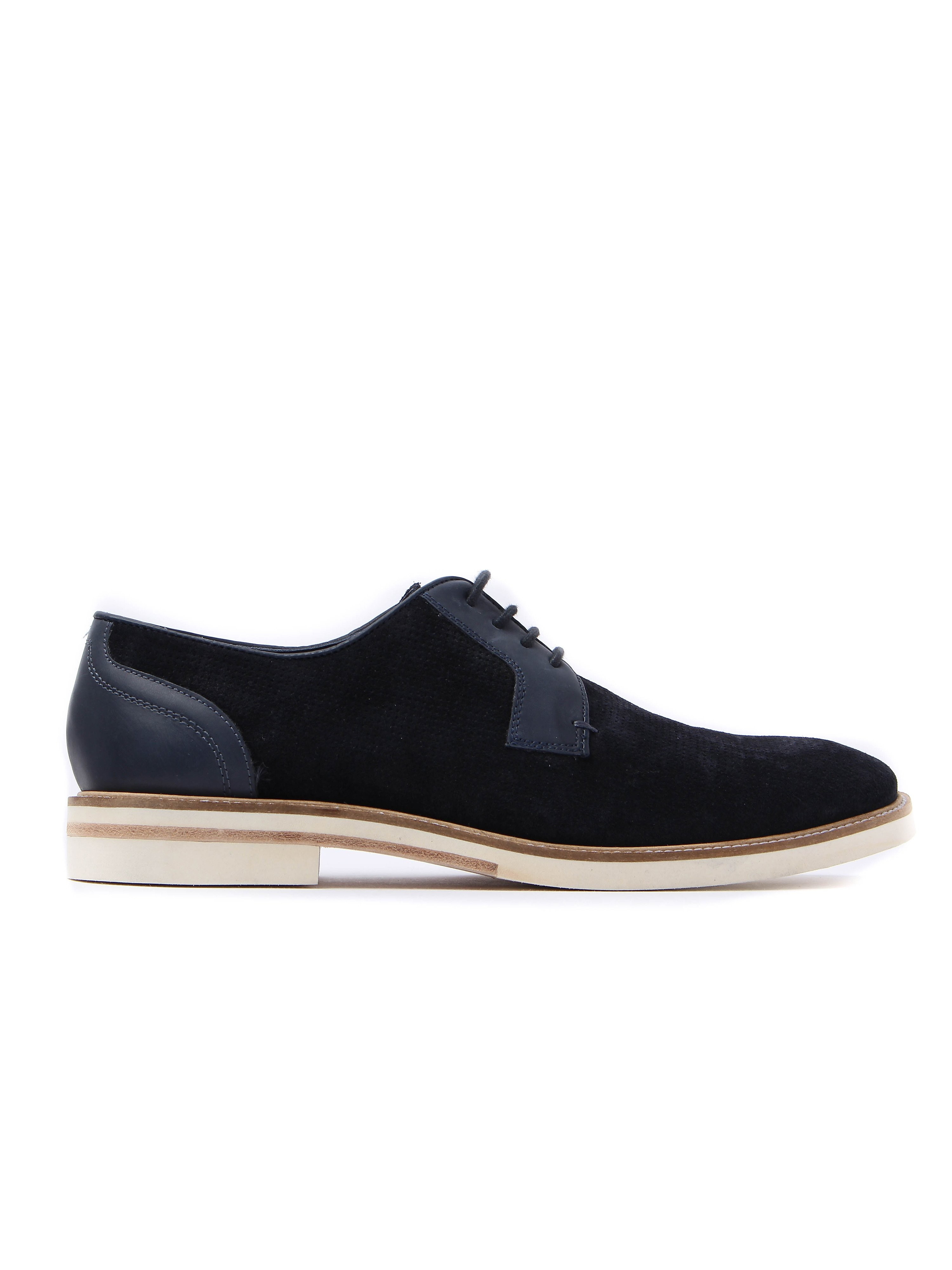 Ted Baker Men's Siablo Perforated Suede Derby Shoes - Dark Blue
