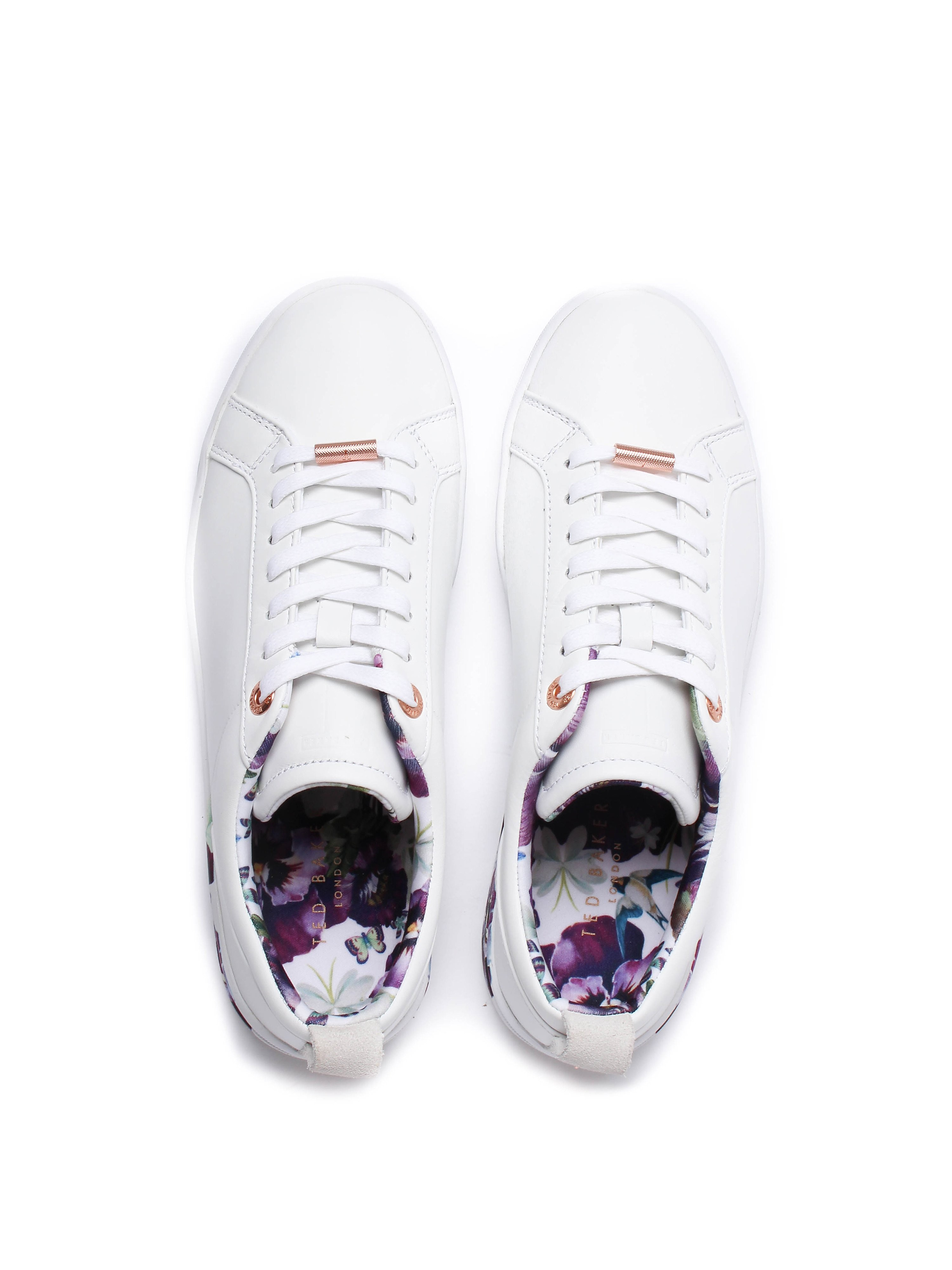 Ted Baker Women's Barrica Printed Sole Leather Trainers - White
