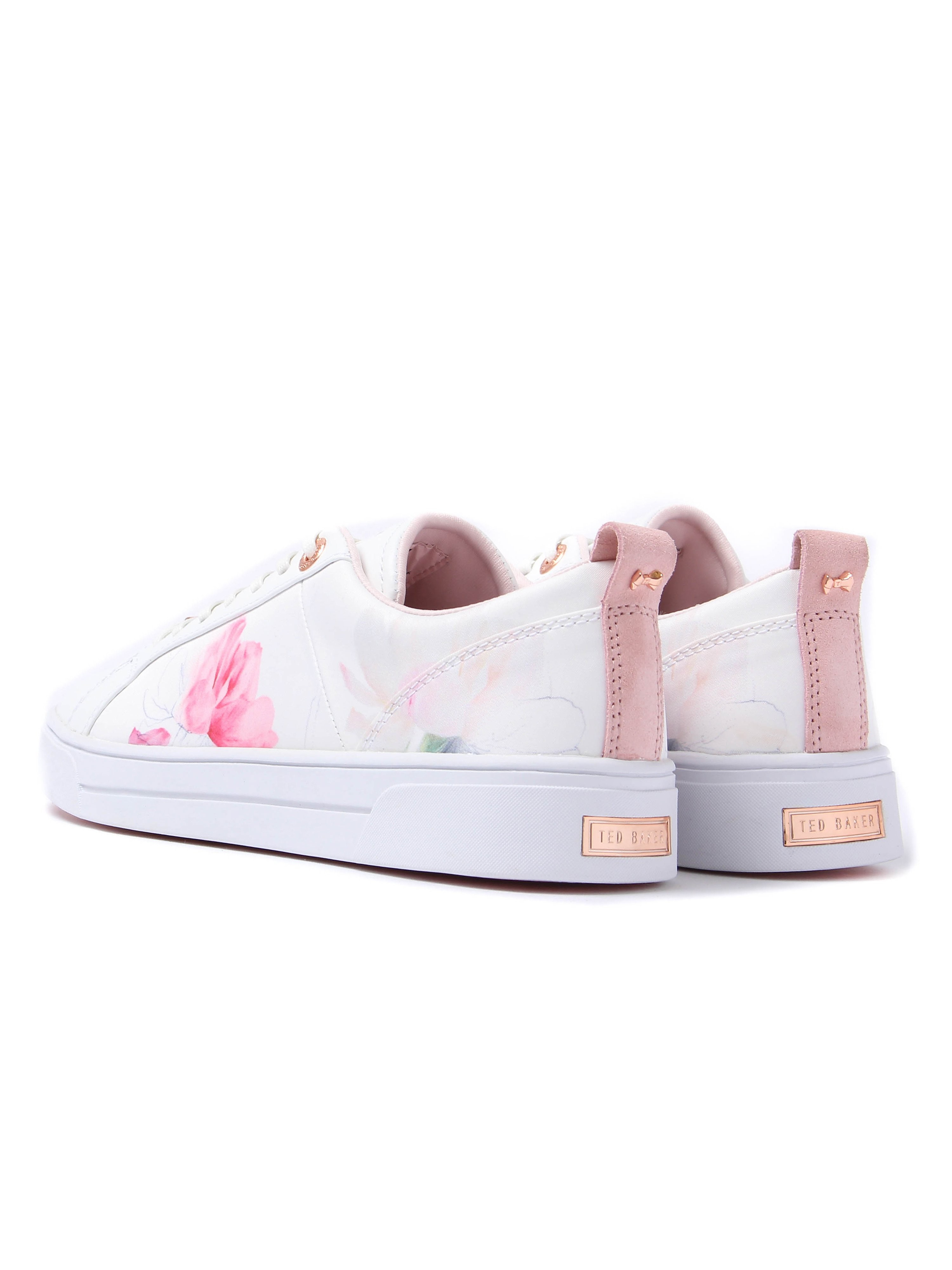 Ted Baker Women's Orulo Oriental Bloom Lace-Up Trainers - White