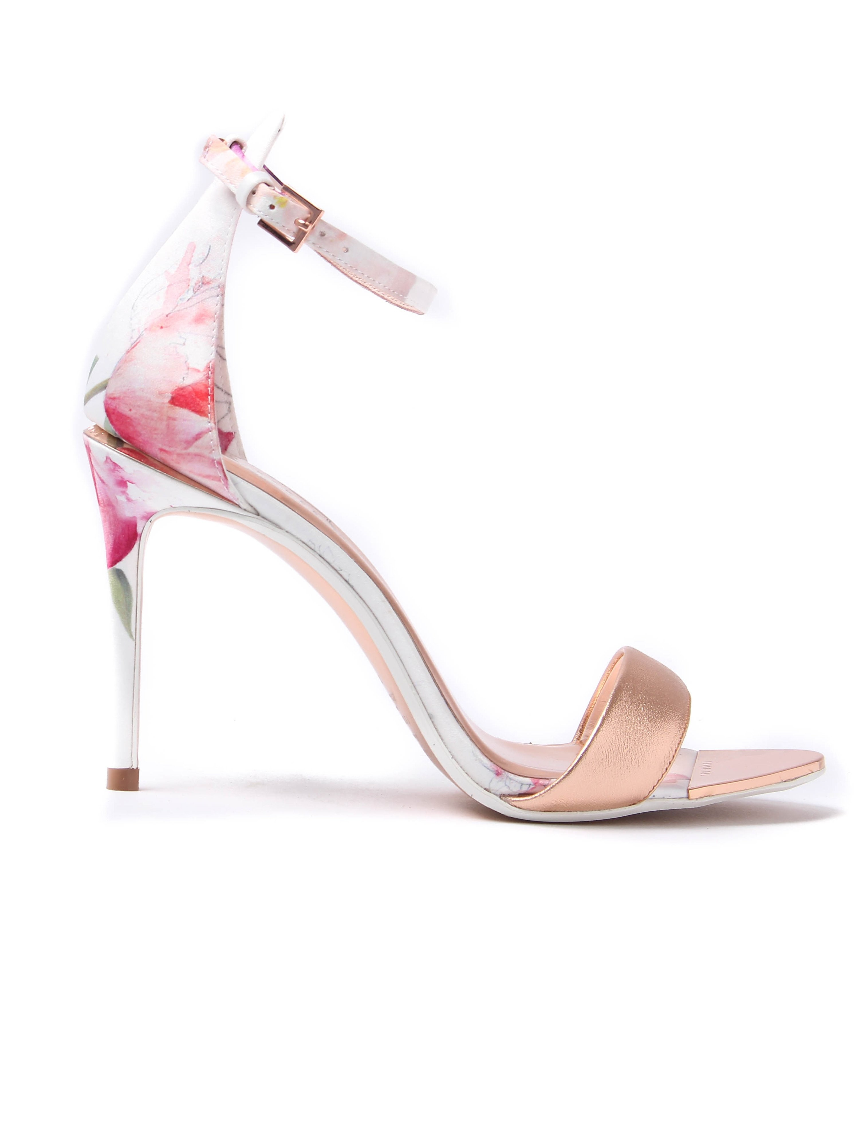 Ted Baker Women's Charv Oriental Blossom Sketchbook Heeled Sandals - Rose Gold