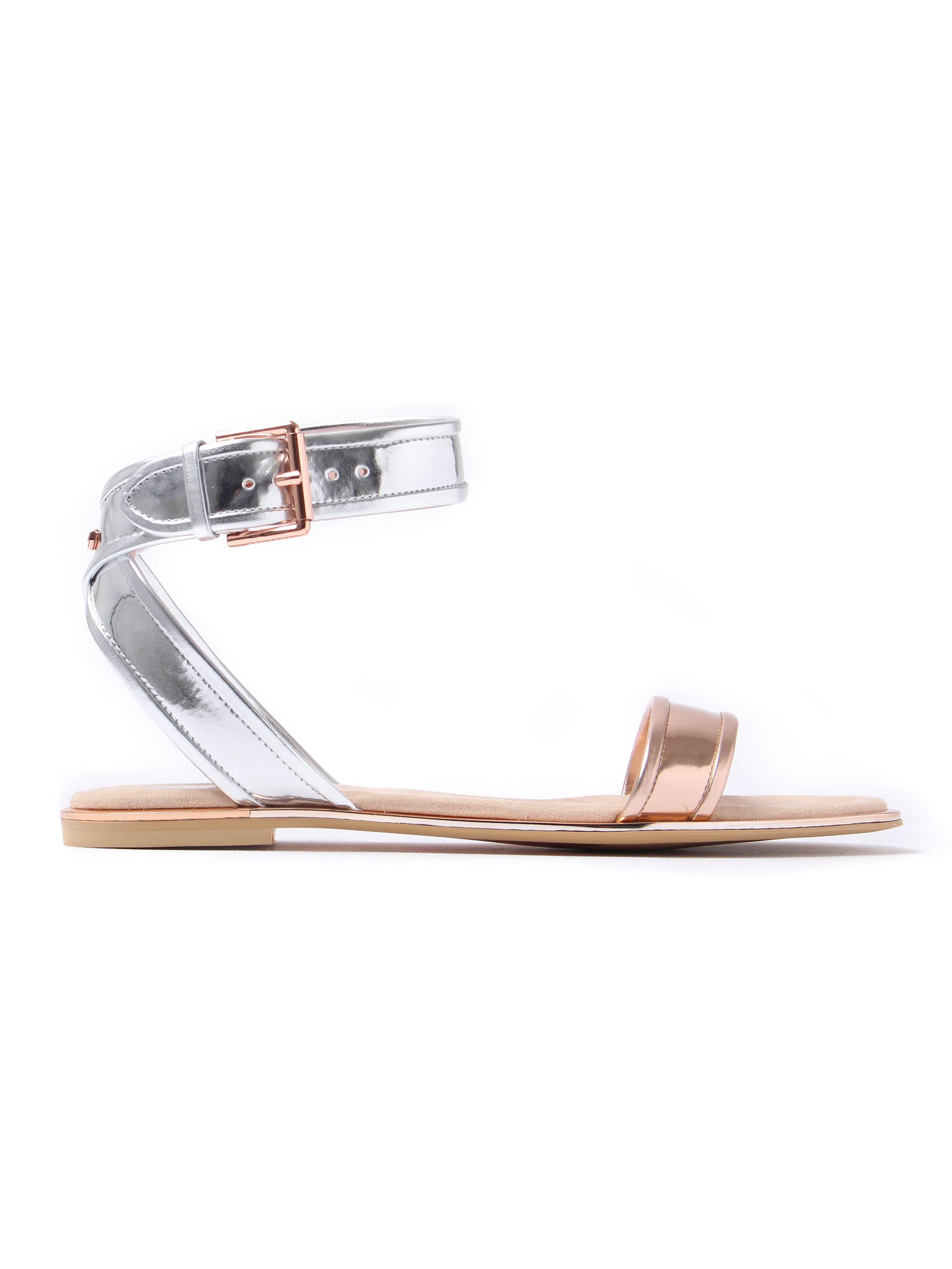 Ted Baker Women's Alella Metallic Sandals - Rose Gold & Silver