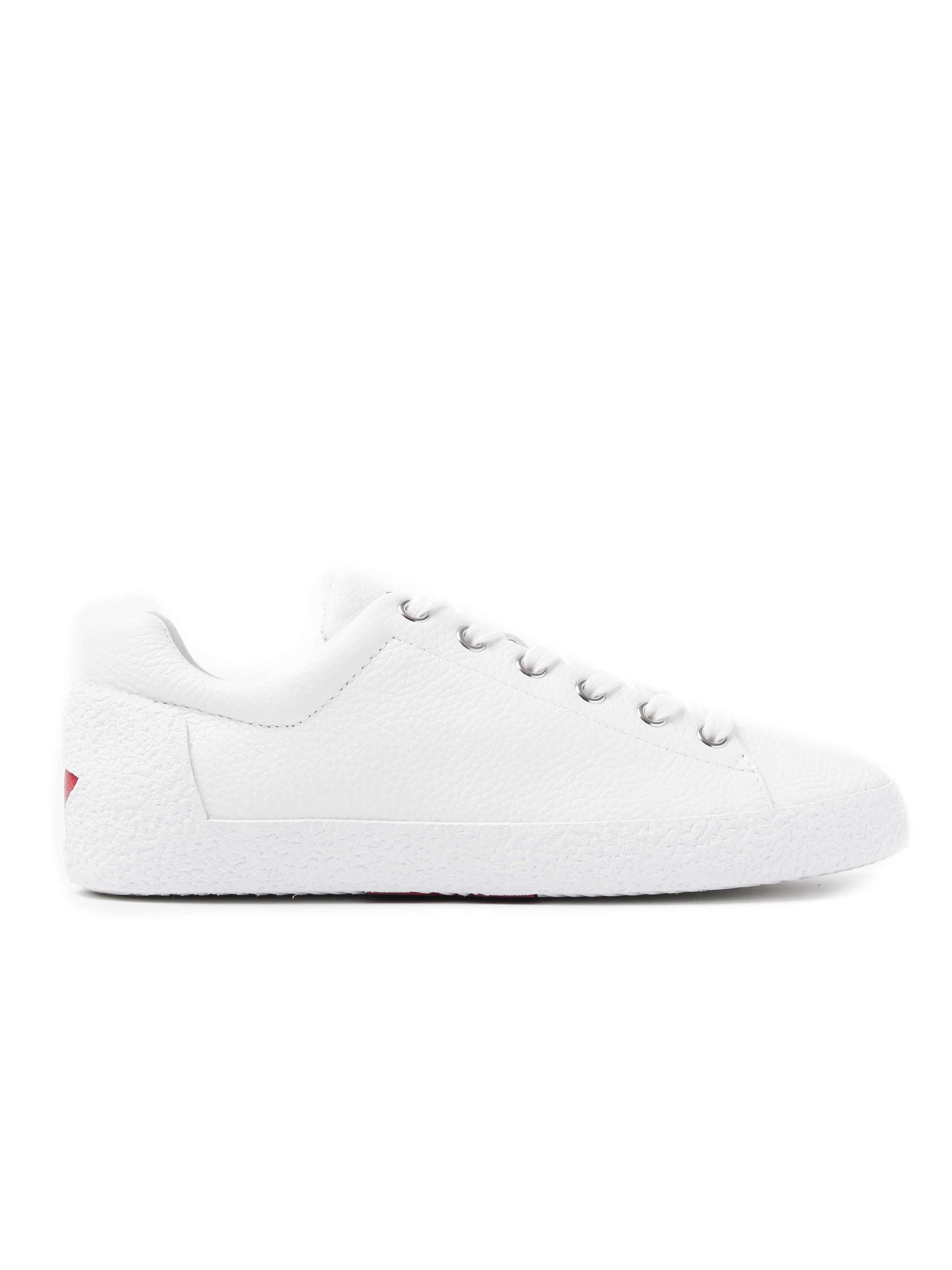 Ash Women's Nicky Textured Leather Trainers - White
