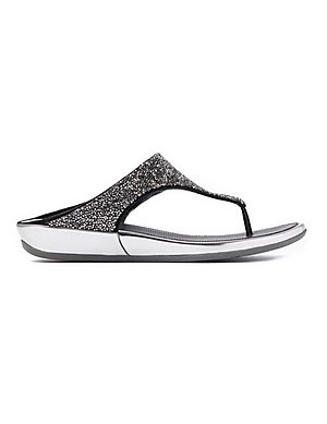 eb01ed65b FitFlop Women s Banda Roxy Crystal Toe-Post Sandals - Pewter ...